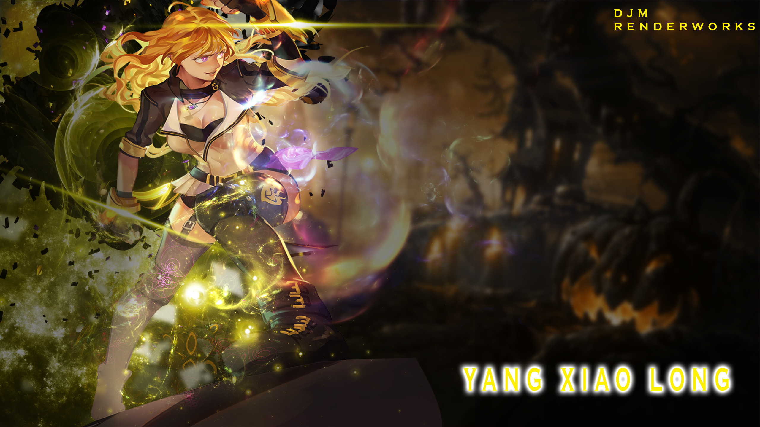 Res: 2560x1440, C4D Wallpaper] Yang Xiao long -RWBY- by MekakuActors on DeviantArt