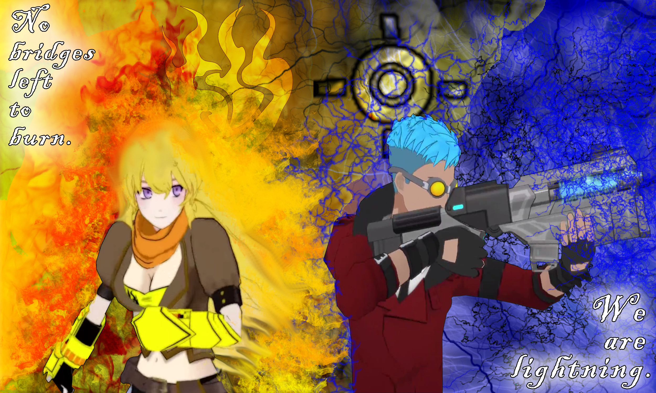 Res: 2500x1500, Yang and neptune | RWBY Yang and Neptune Wallpaper by MetalPorSiempre