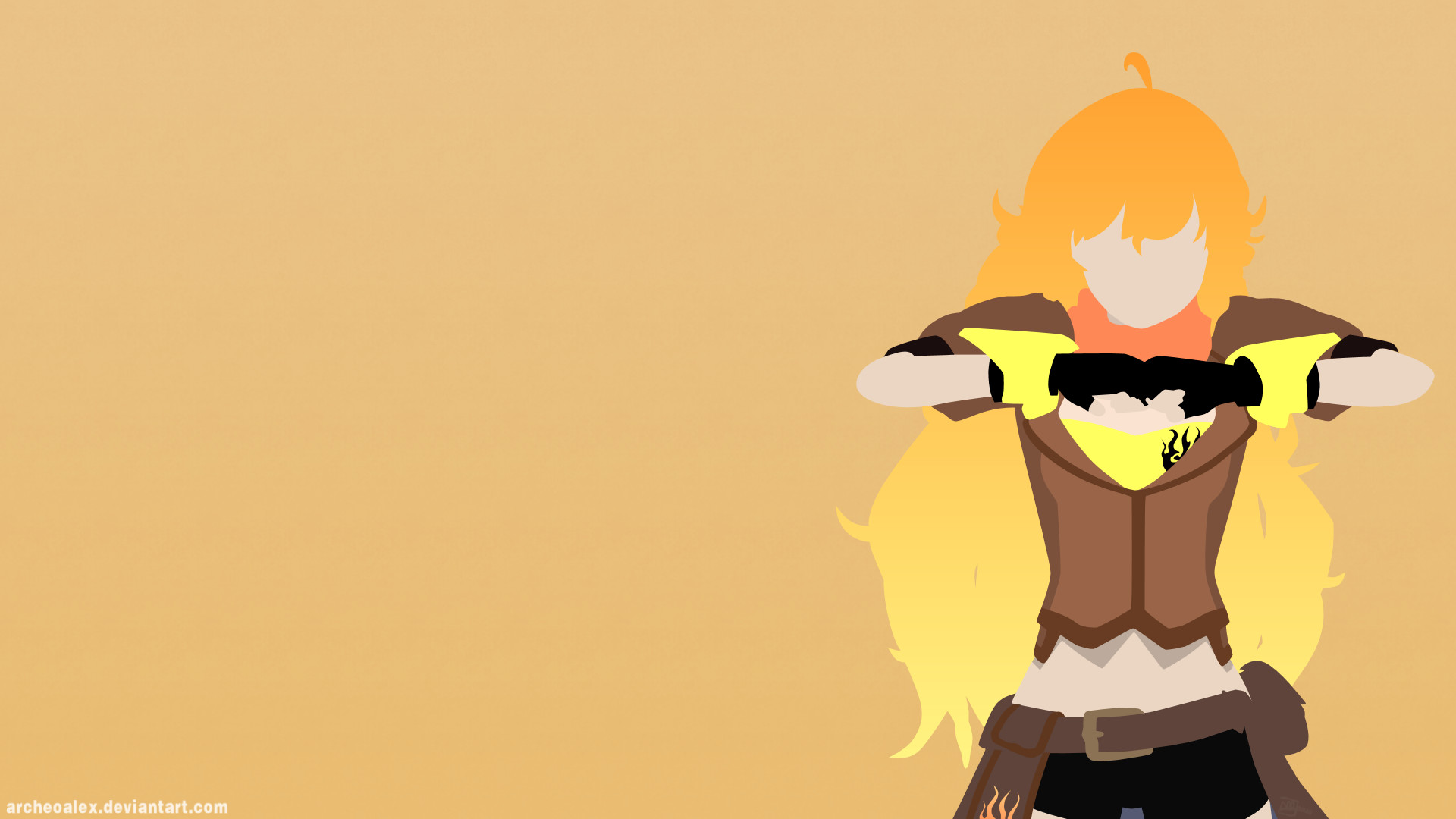 Res: 1920x1080, ... RWBY Yang Xiao Long (Minimalist Wallpaper) by ArcheoAlex