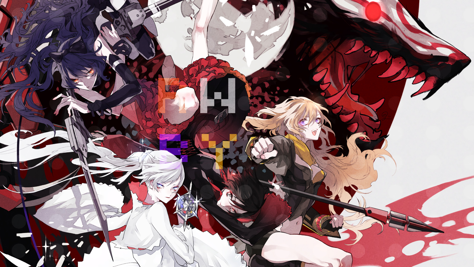 Res: 1920x1080, Anime RWBY Ruby Rose (RWBY) Weiss Schnee Blake Belladonna Yang Xiao Long  Wallpaper