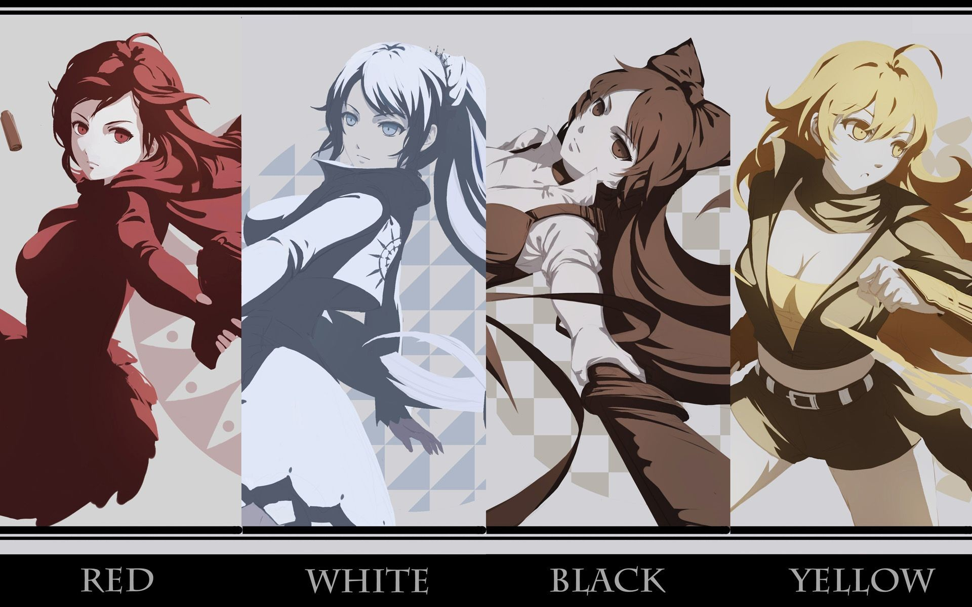 Res: 1920x1200, Anime RWBY Ruby Rose Weiss Schnee Blake Belladonna Yang Xiao Long Wallpaper