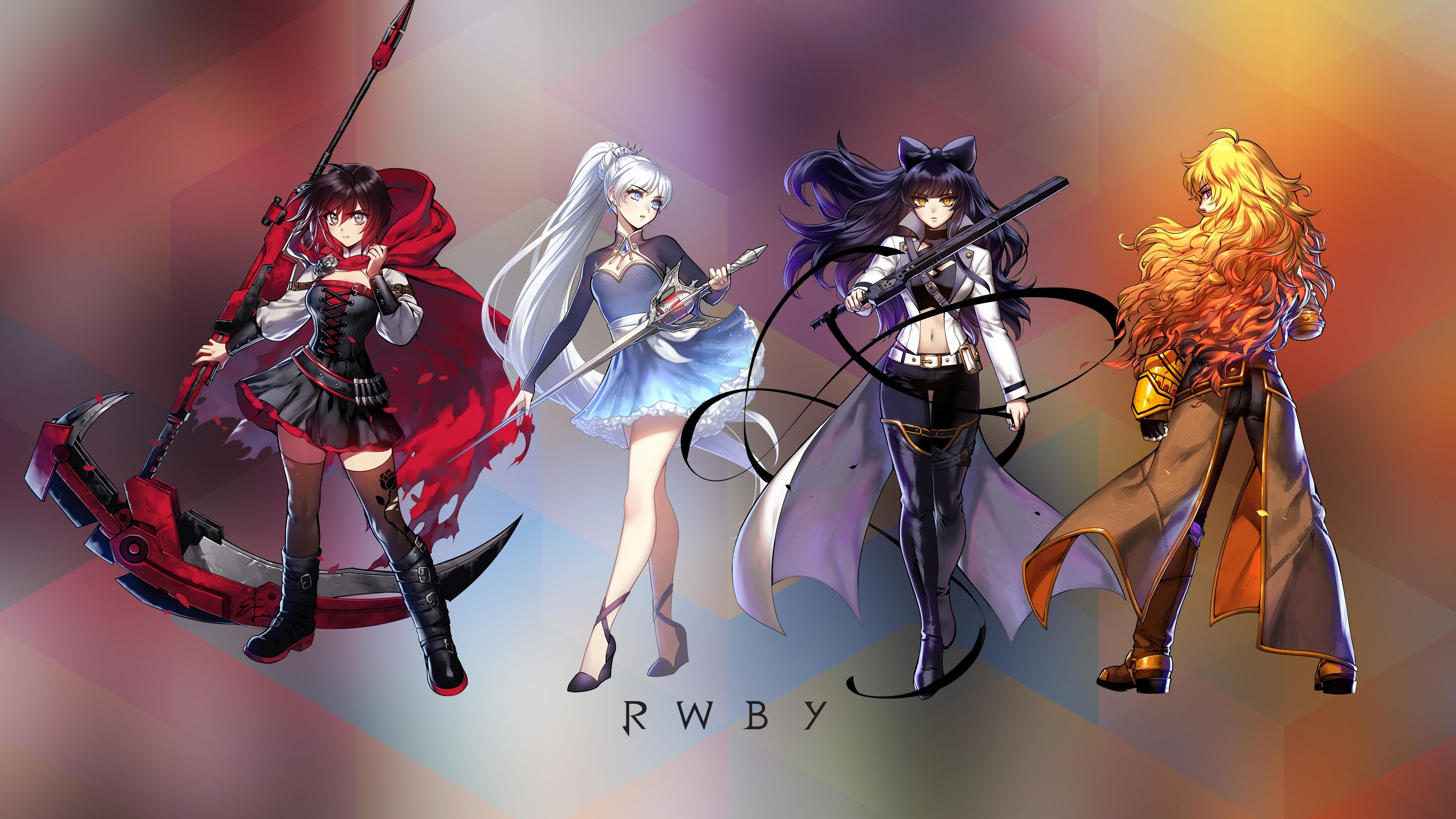 Res: 3840x2160, MISCELLANEOUS4K UHD RWBY wallpaper original art by Rooster Teeth's Ein Lee  ...