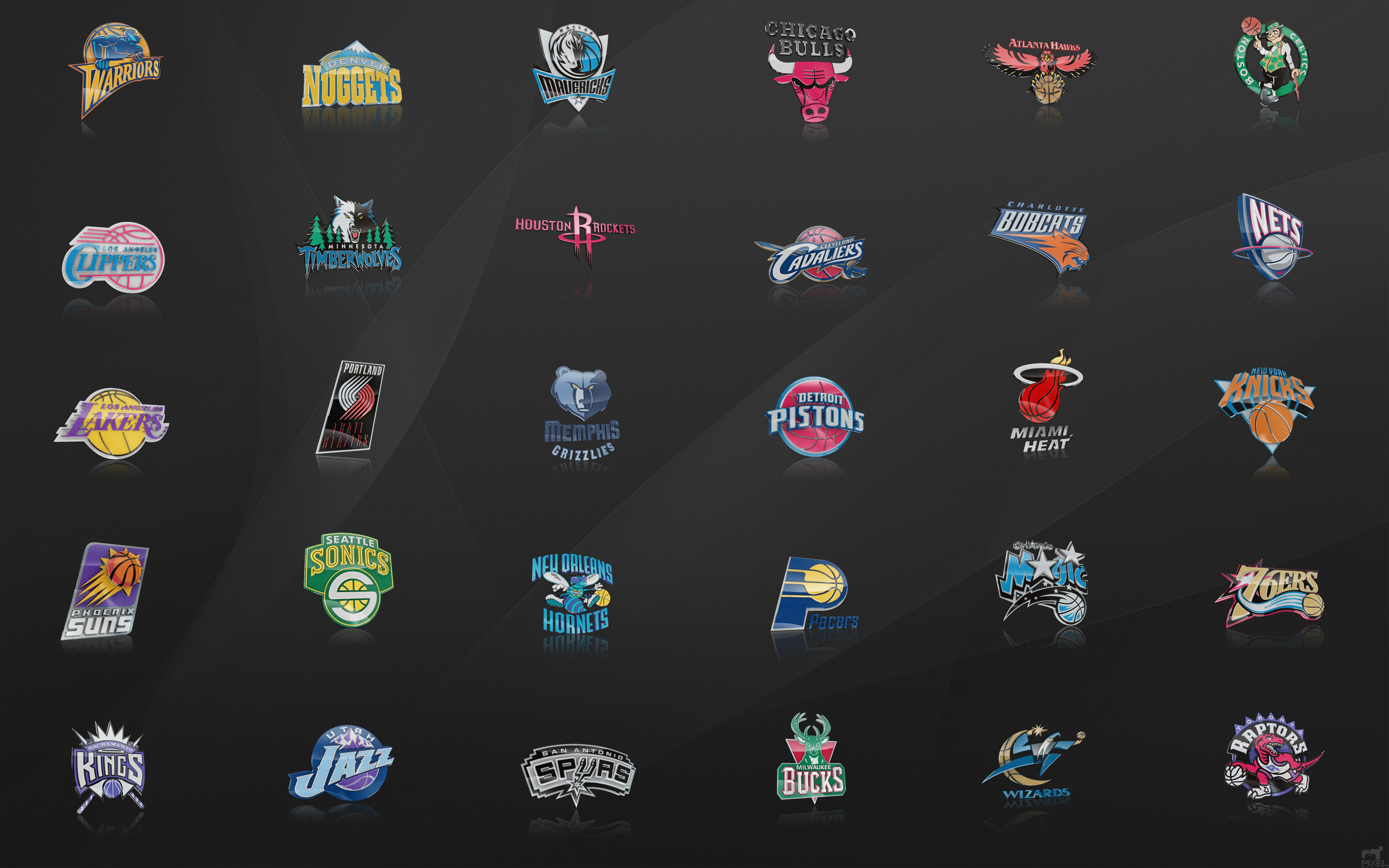 Res: 2560x1600, NBA Team Basketball Logo Wallpaper Pics Wallpaper