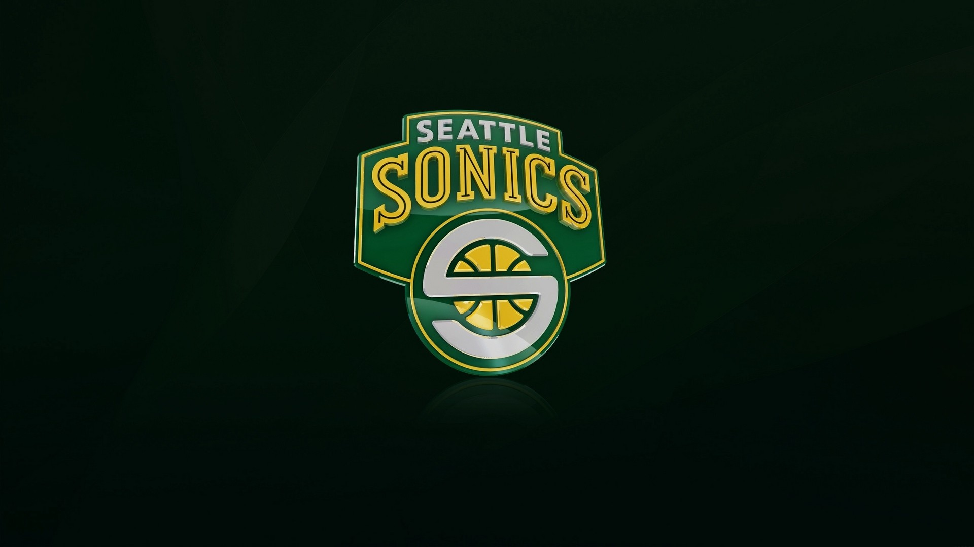 Res: 1920x1080,  Wallpaper seattle supersonics, nba, logo