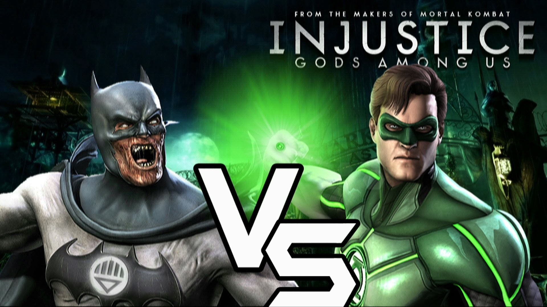 Res: 1920x1080, Injustice Gods Among Us - Blackest Night Batman vs Green Lantern with Lore  & Skins - YouTube