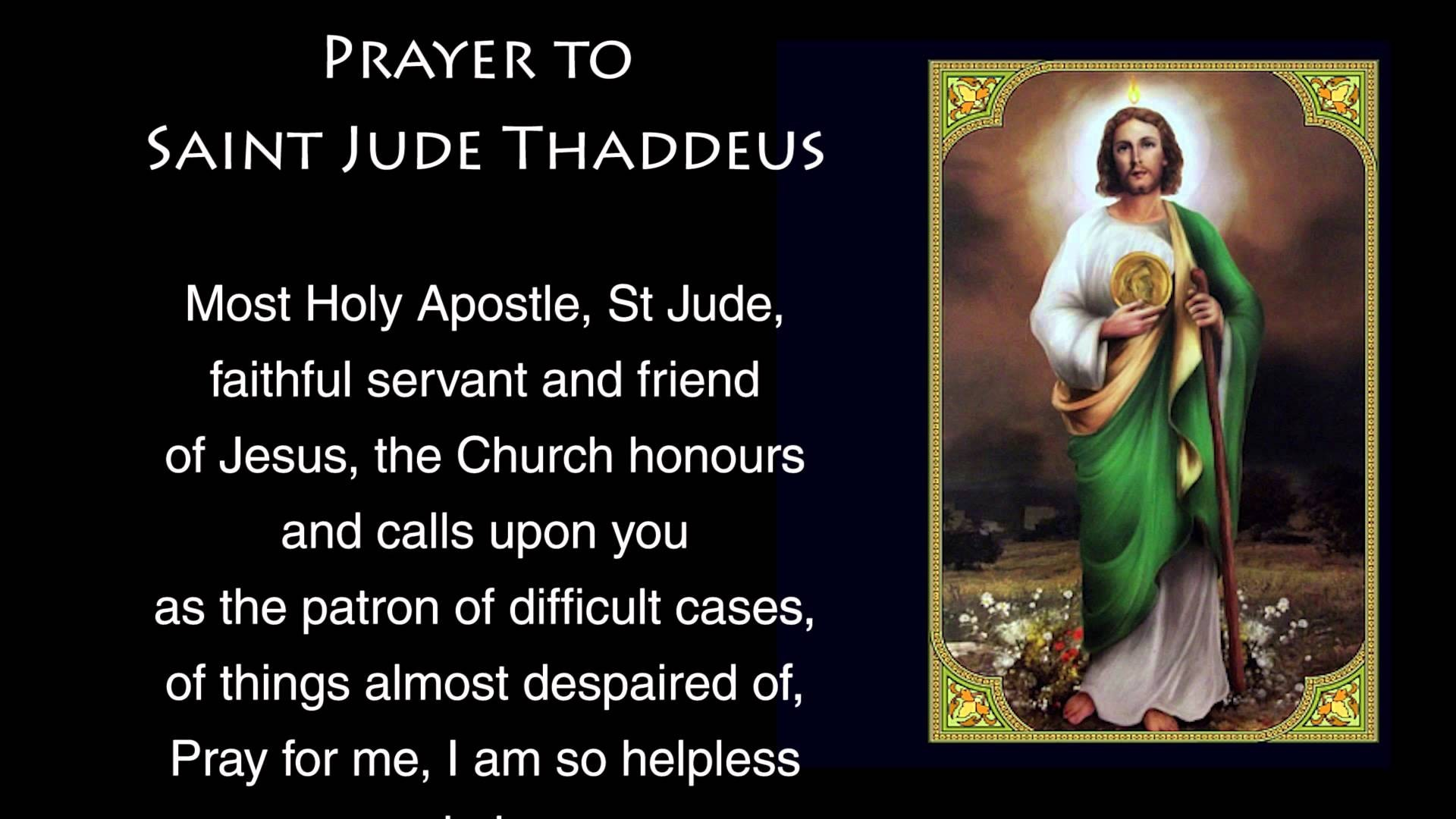 Res: 1920x1080, Saint Jude Prayers Novena Copy Prayer To Saint Jude Prayer To St Jude
