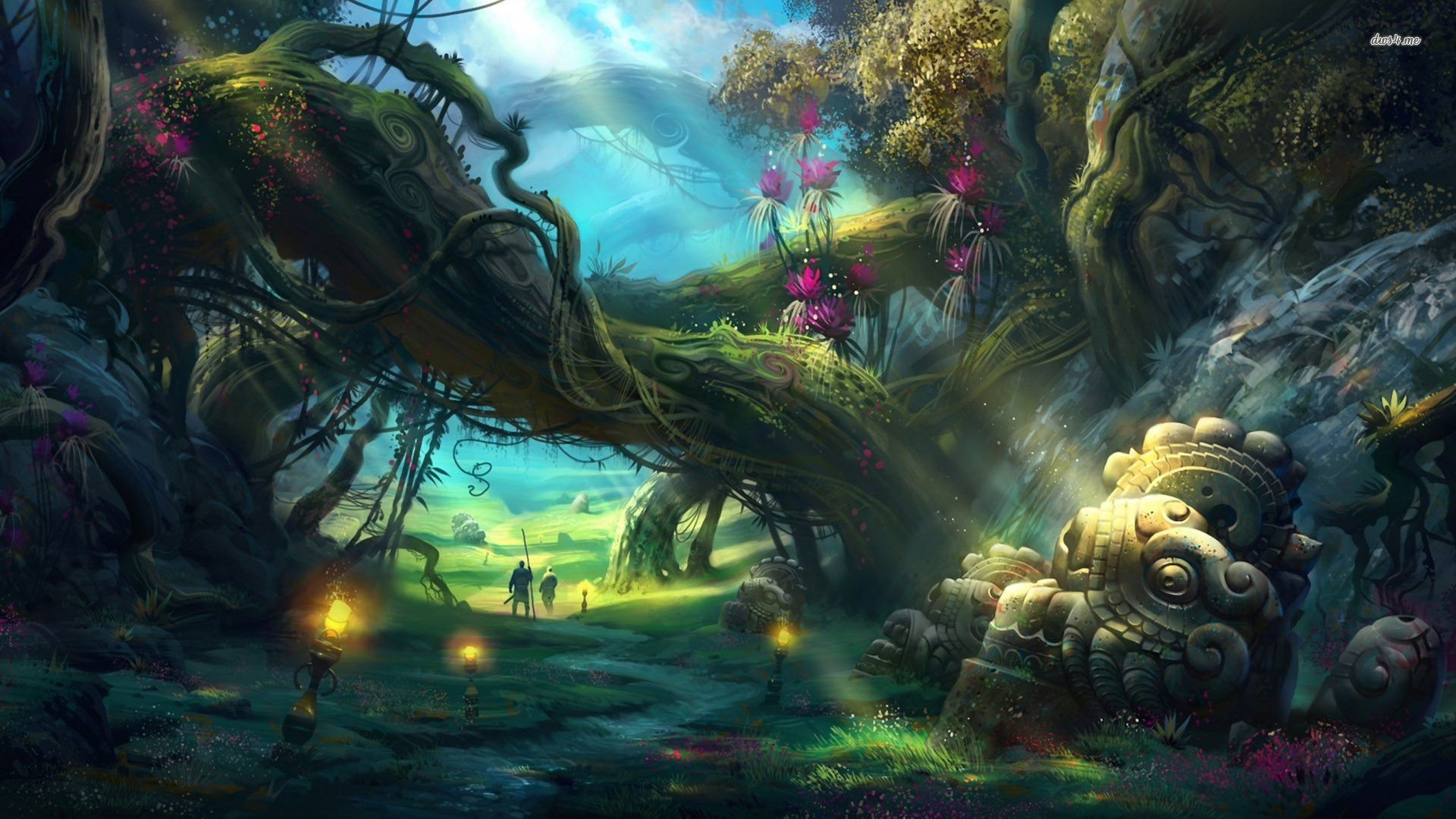Res: 1920x1080, ... Magical Forest Wallpaper The Enchanted Forest ...
