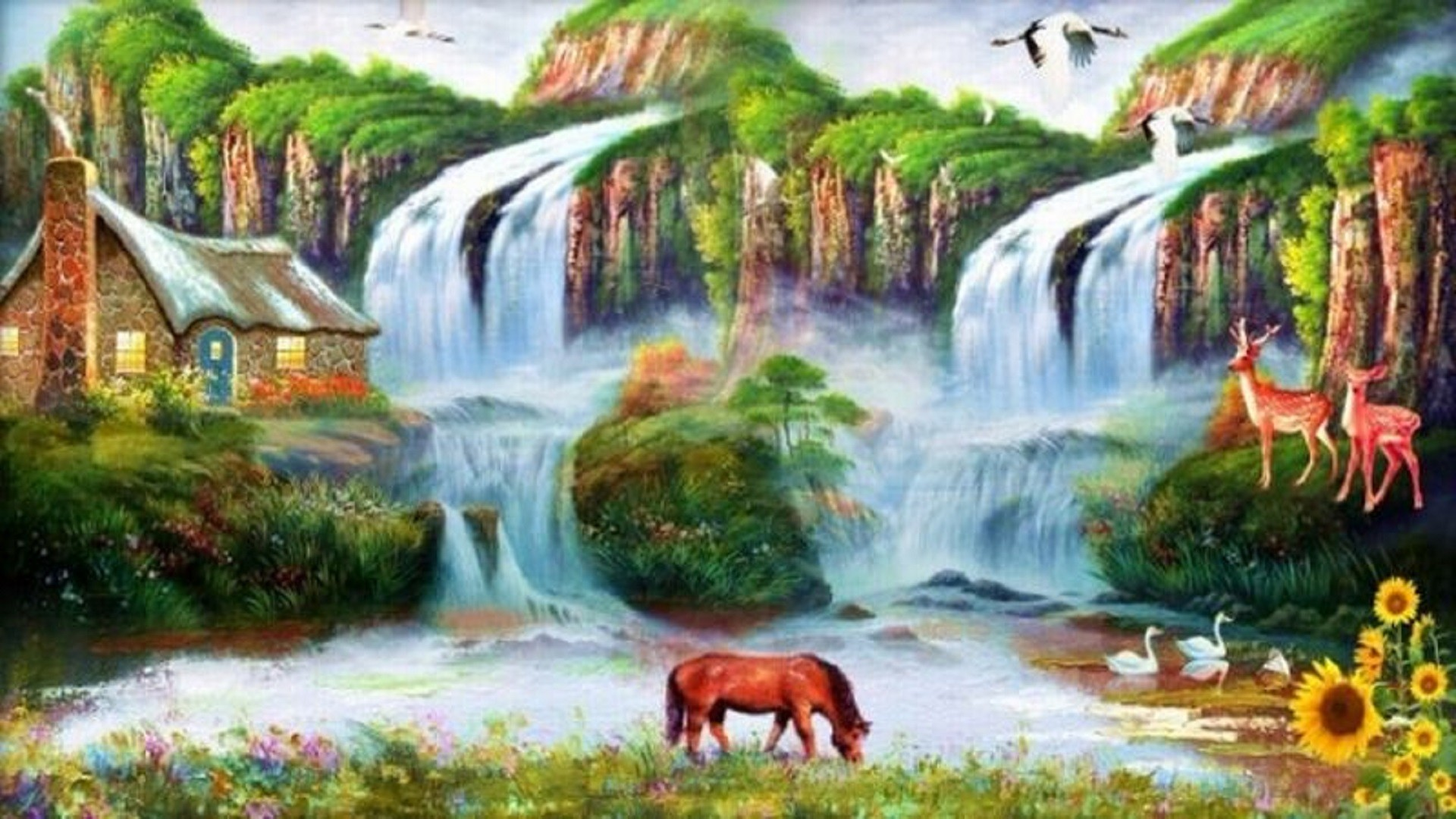 Res: 1920x1080, Beauty-nature-water-fall-hd-wallpapers-for-desktop