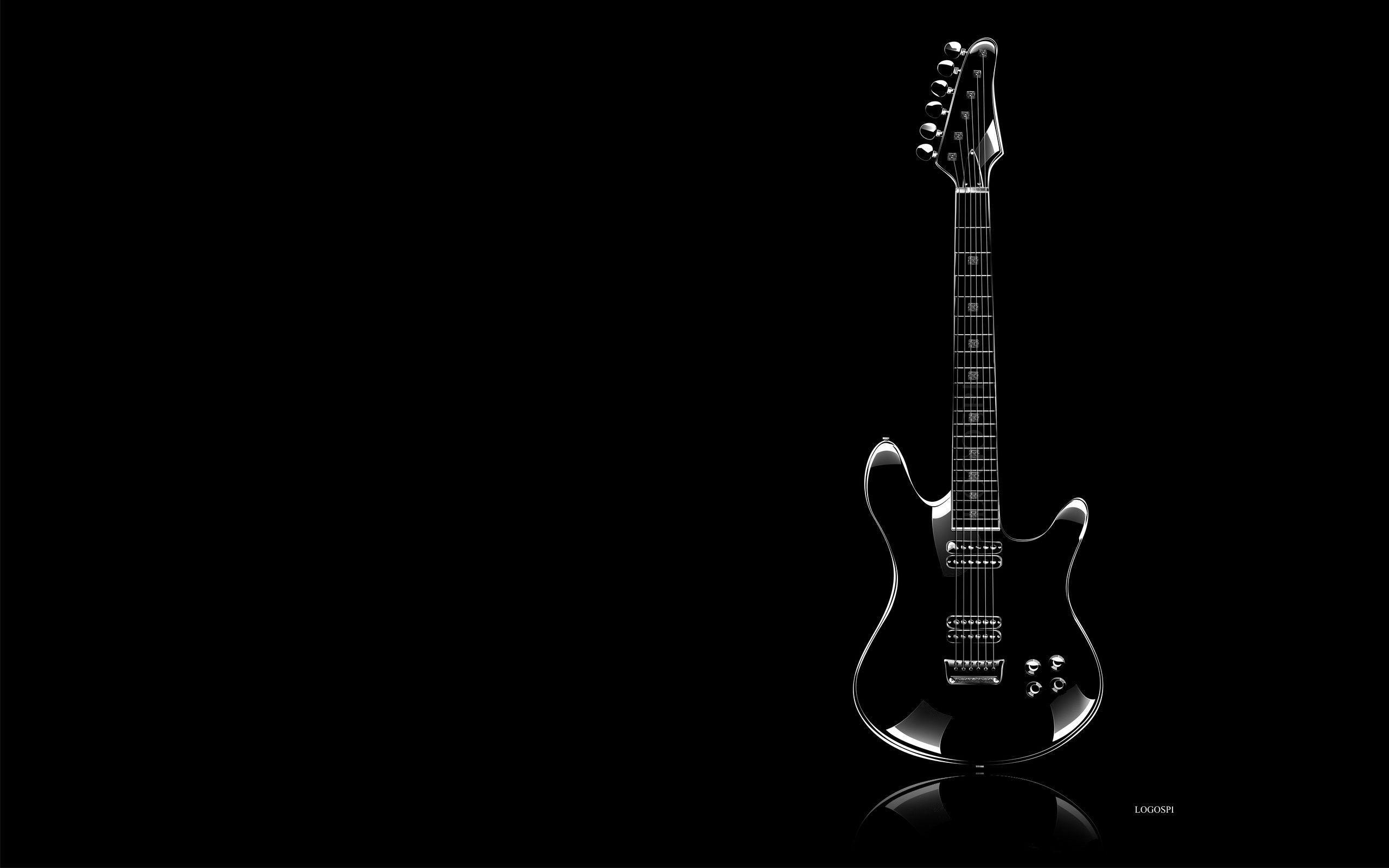 Res: 2560x1600, Guitar Black Wallpapers