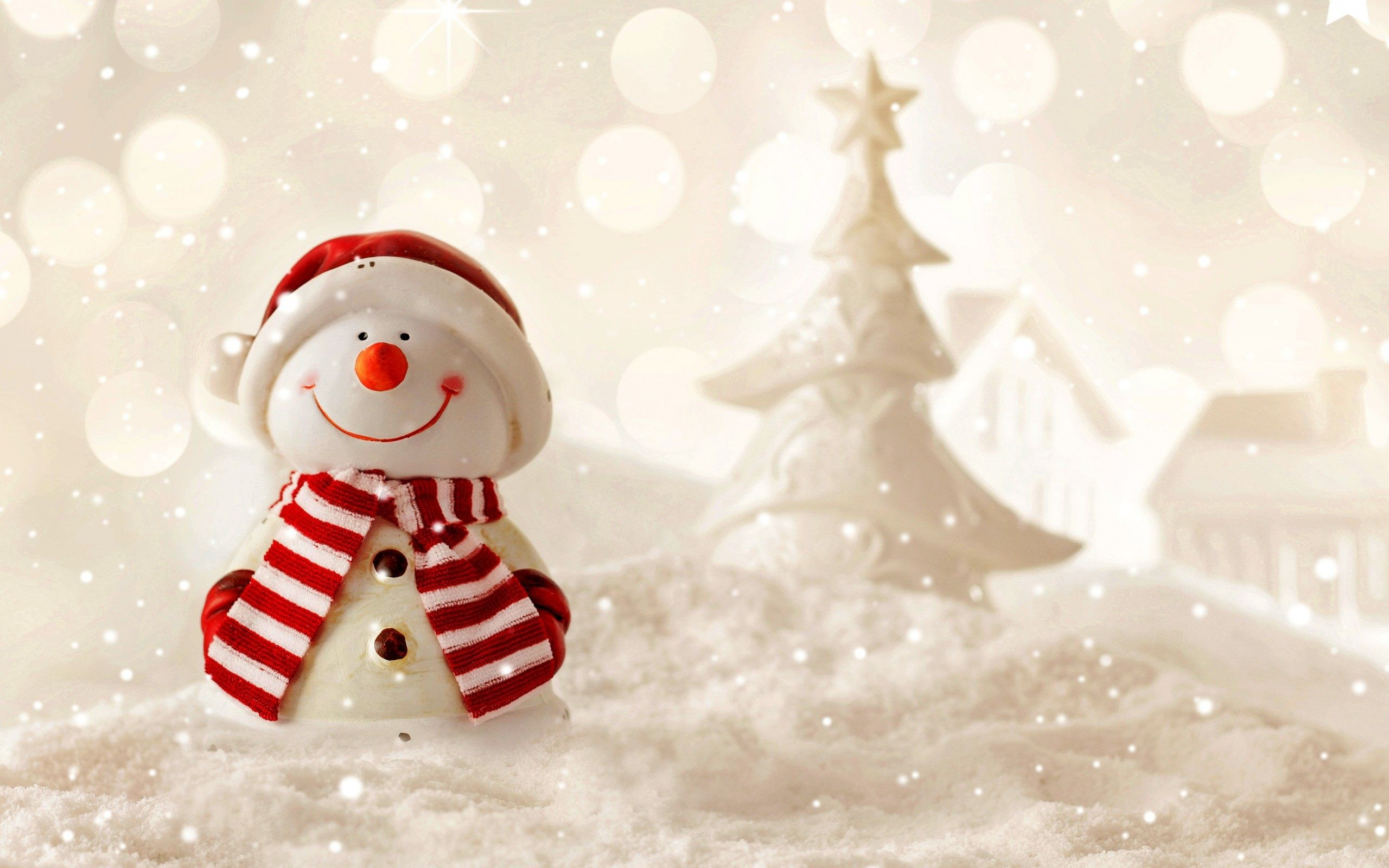Res: 2560x1600, Snowman Holidays Wallpaper Background 52526