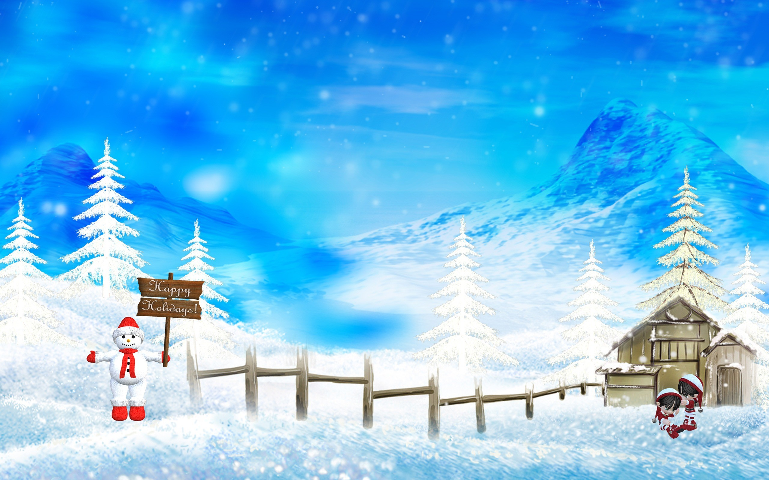 Res: 2560x1600, Happy Hollidays Wallpaper Christmas Holidays Wallpapers