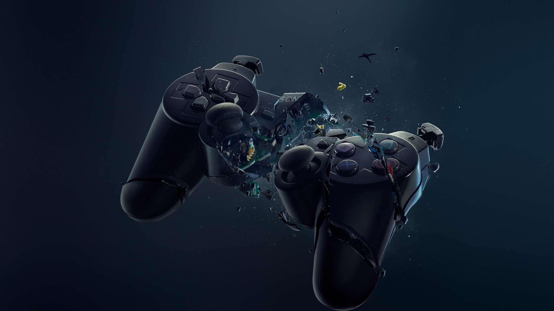 Res: 1920x1080, Add media Report RSS Playstation 4 Controller - Wallpaper (view original)