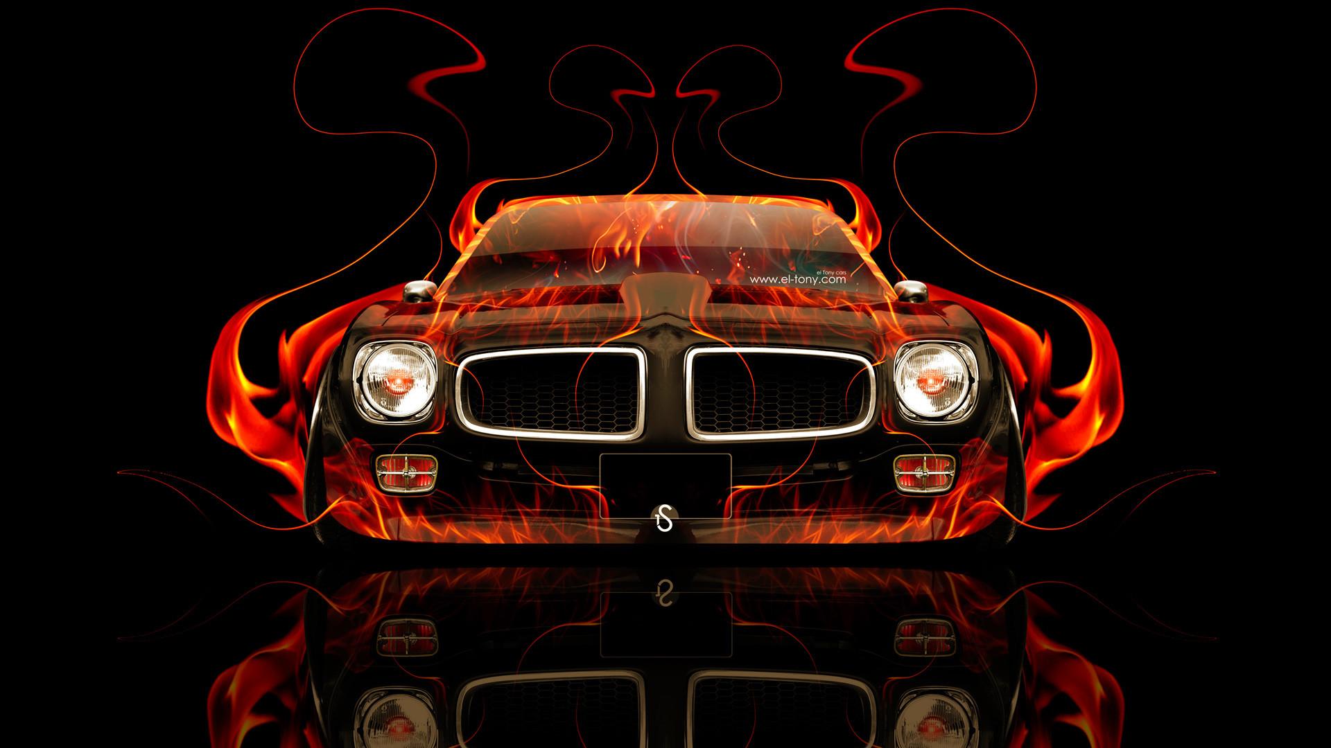 Res: 1920x1080, Pontiac-Firebird-Front-Fire-Abstract-Car-2014-HD-