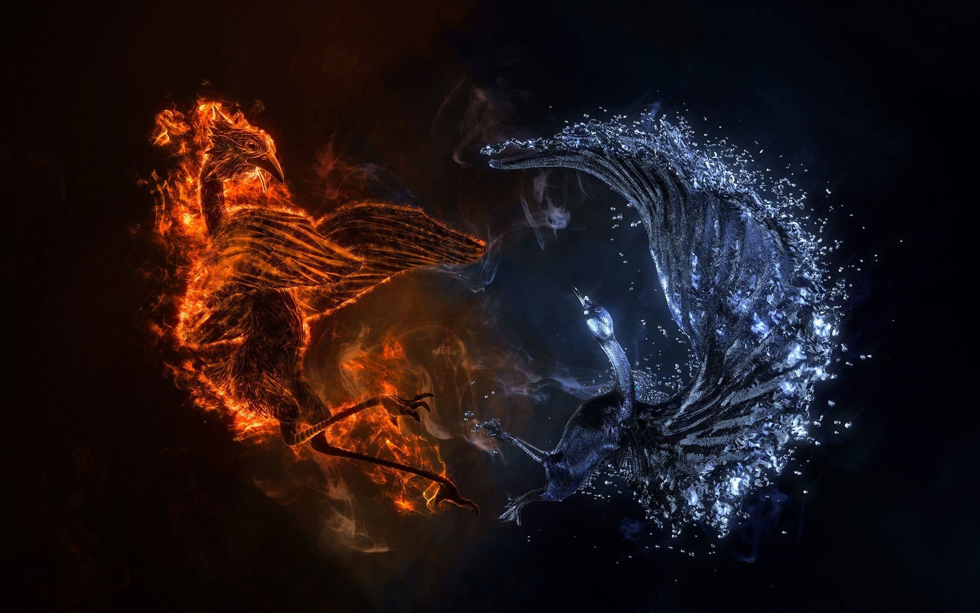 Res: 1920x1200, Fire And Water Wallpapers - Wallpaper Cave