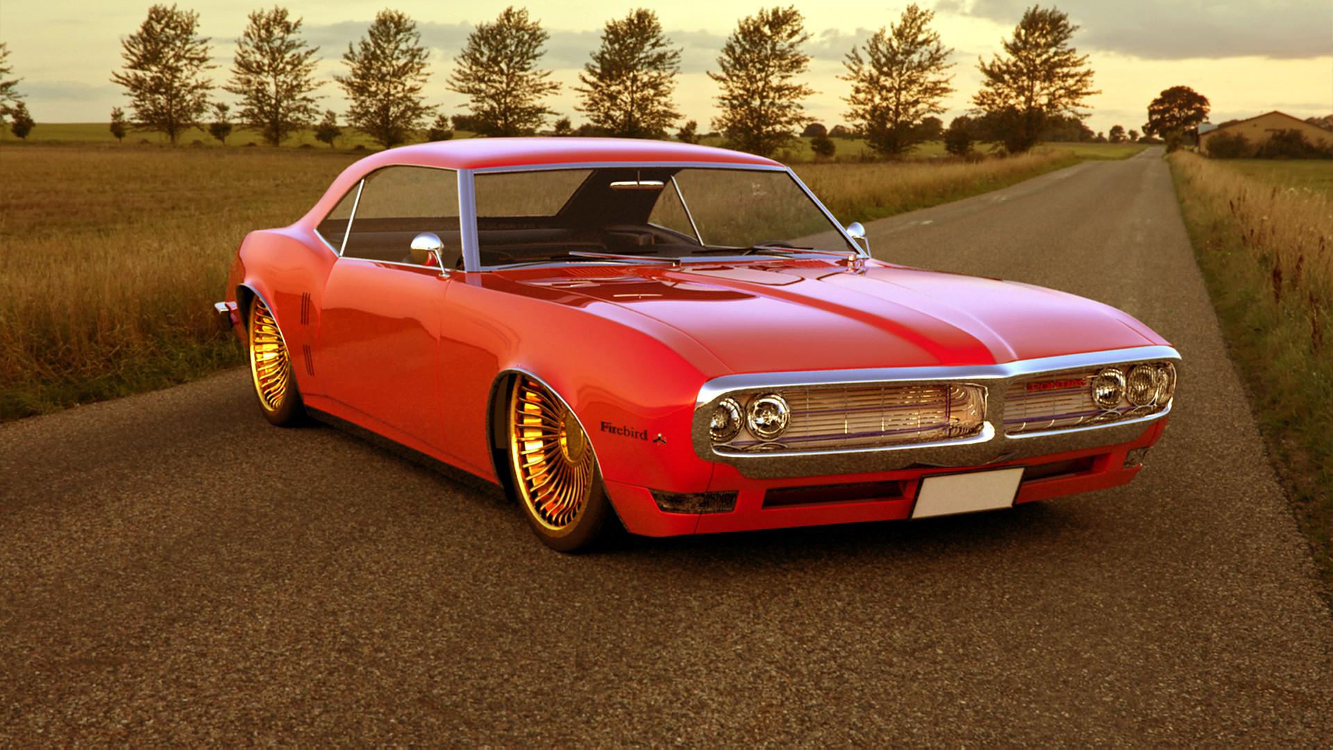 Res: 1920x1080, Pontiac Firebird 1968 Red