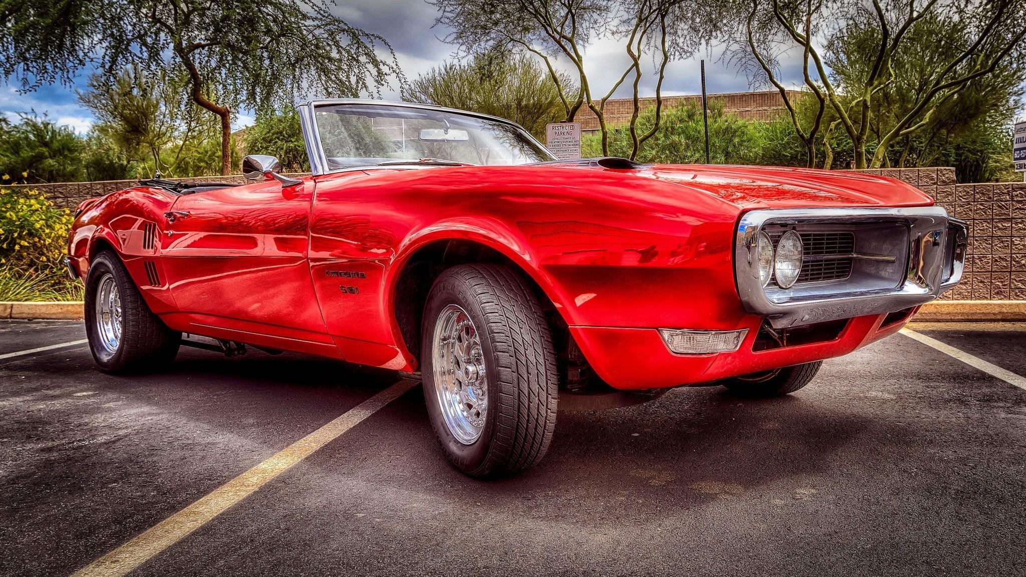 Res: 2048x1152, pontiac firebird faerbёd muscle car front hdr