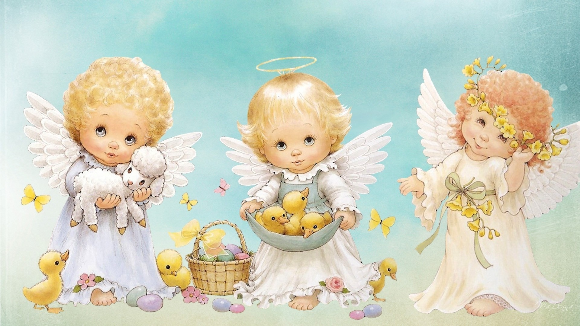Res: 1920x1080, Wallpaper Hd Of Angel Babies Cute Photo With Pics Mobile