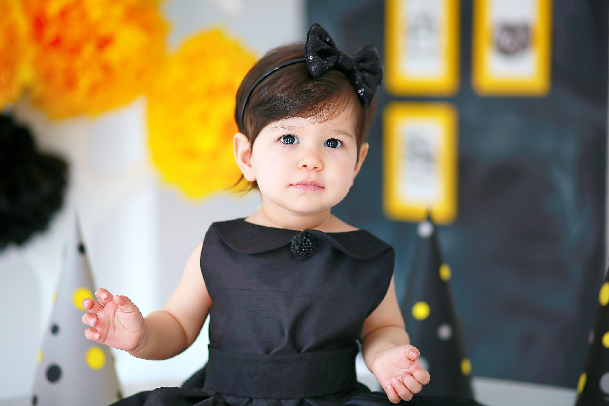 Res: 2048x1365, Angel Baby In Black Dress | 2048 x 1365 | Download | Close