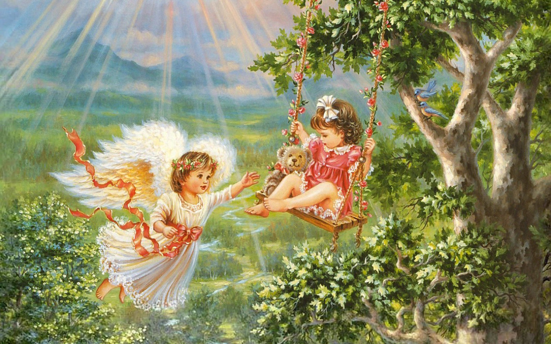 Res: 1920x1200, Image: Angel Child Swing Forest wallpapers and stock photos. Â«