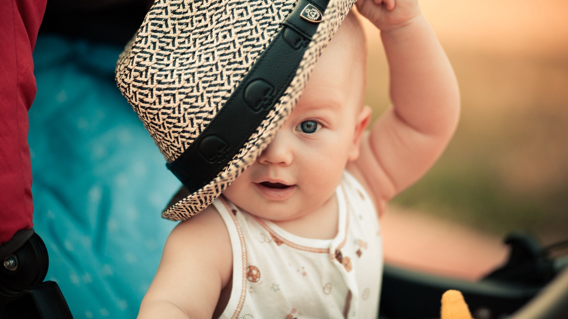 Res: 1920x1080,  Wallpaper baby, child, hat