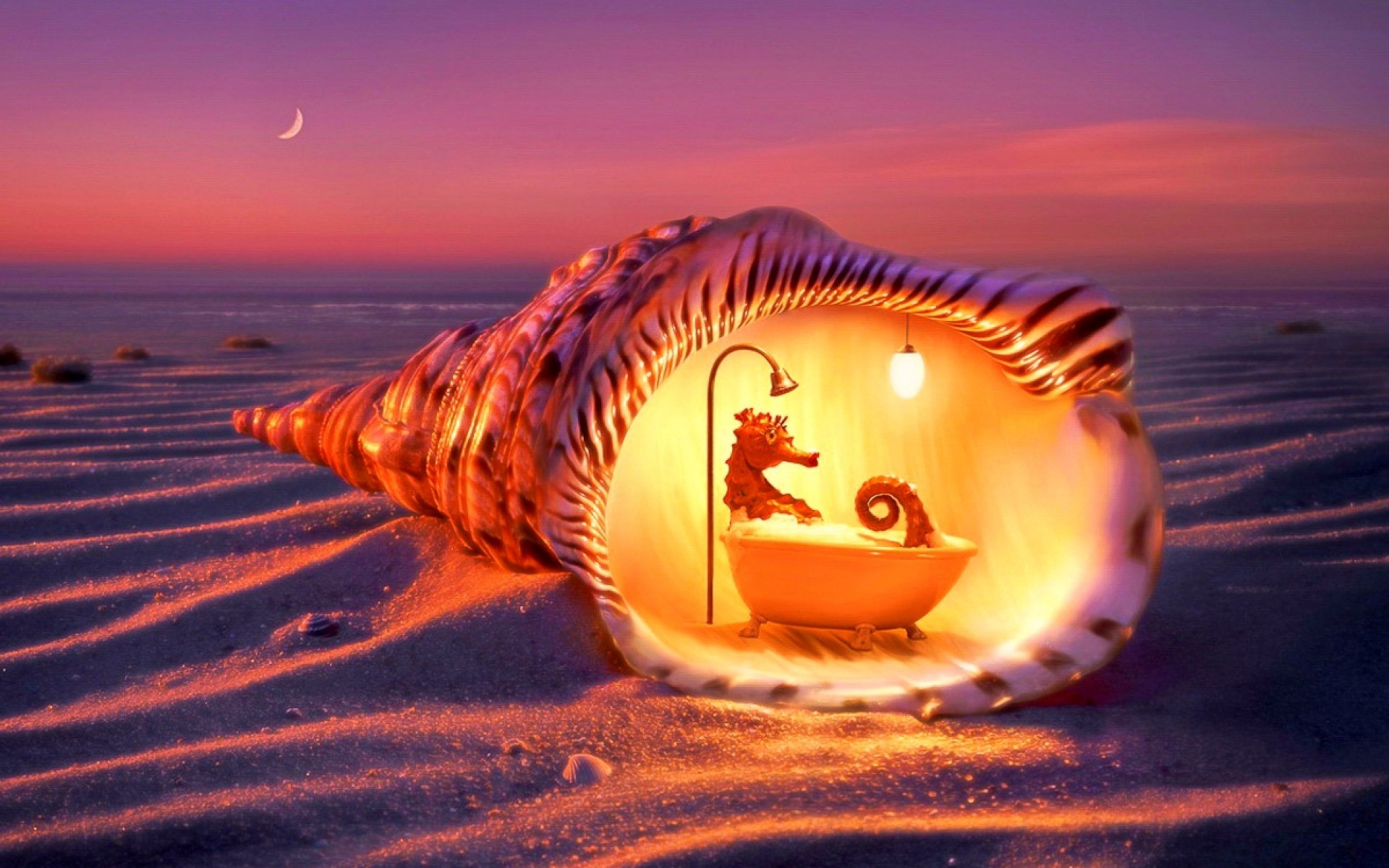 Res: 1920x1200, Bild: Sea Horse Entspannungsbad wallpapers and stock photos. Â«