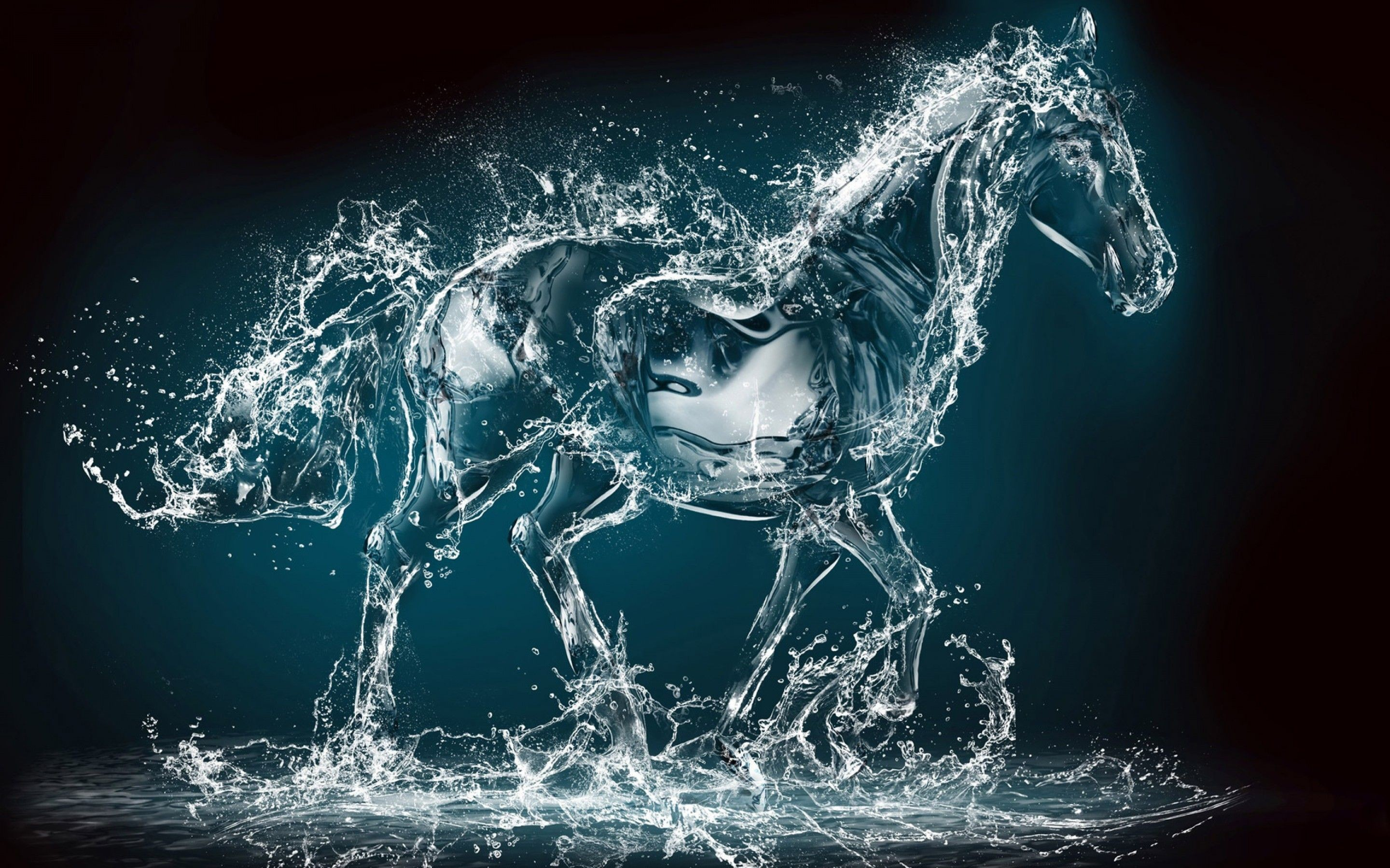 Res: 2880x1800, Most Amazing Painting Ever | Water Art 3D Horse HD wallpaper | HD Latest  Wallpapers