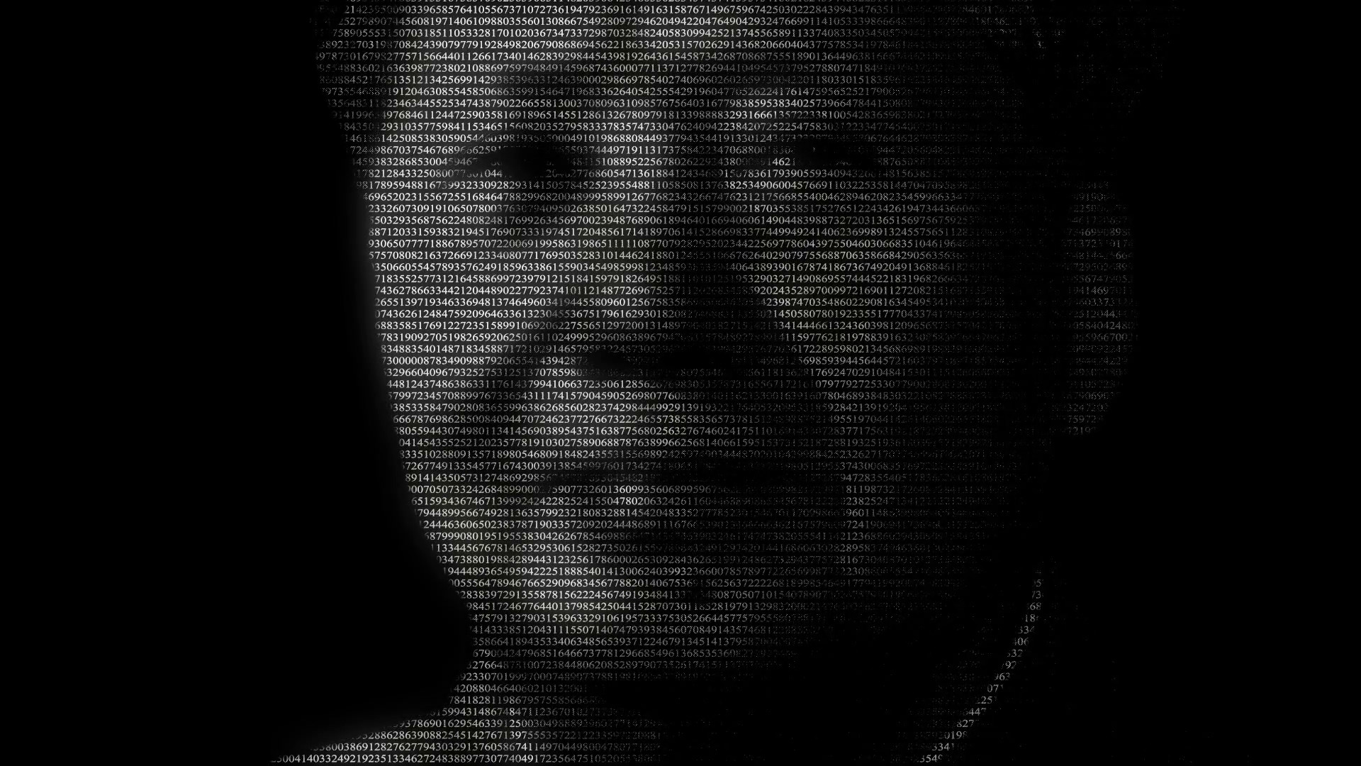 Res: 1920x1080, Animation of face of Chinese communist revolutionary Mao Tse Tung or Mao  Zedong made with numbers running Motion Background - Videoblocks