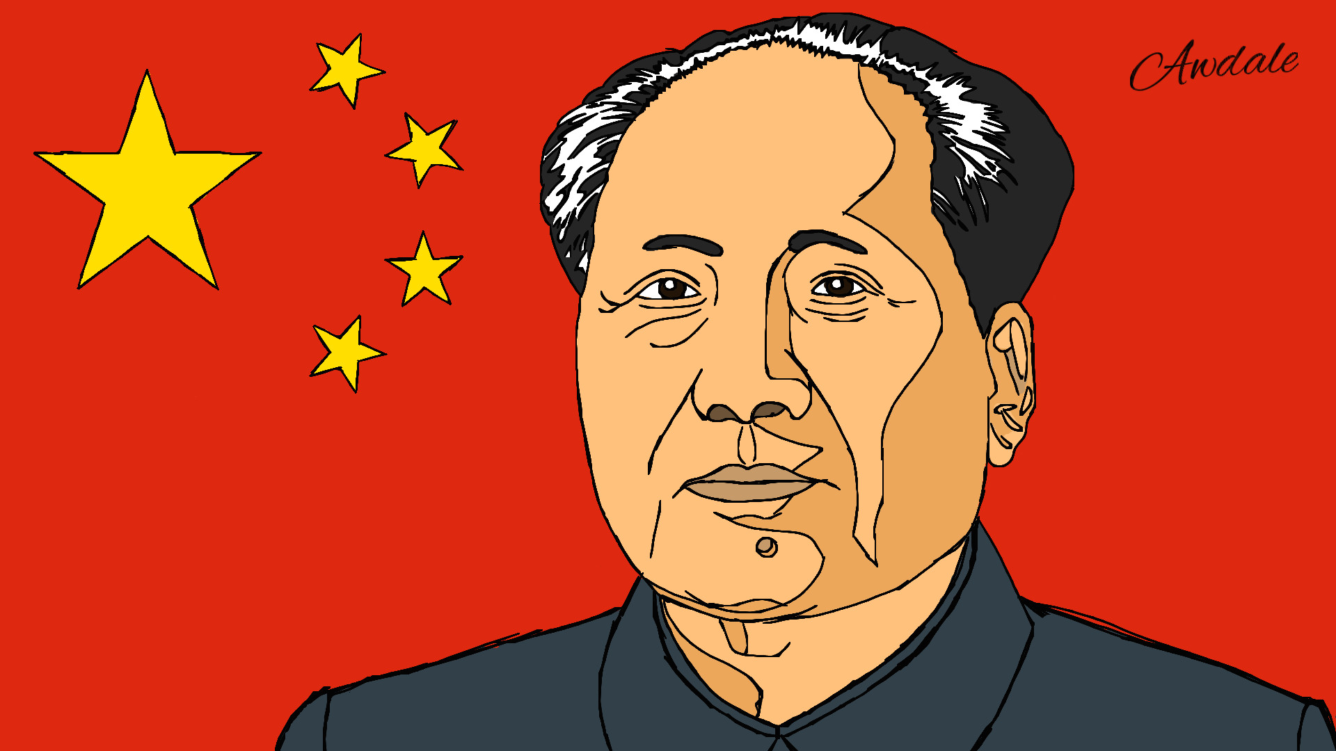 Res: 1920x1080, Mao Zedong by Awdale Mao Zedong by Awdale