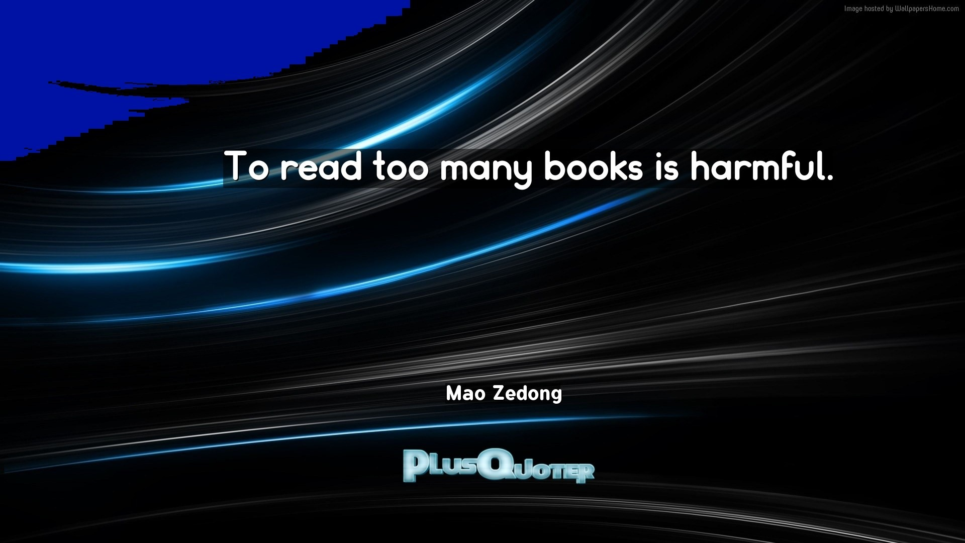 "Res: 1920x1080, Download Wallpaper with inspirational Quotes- ""To read too many books is  harmful."""