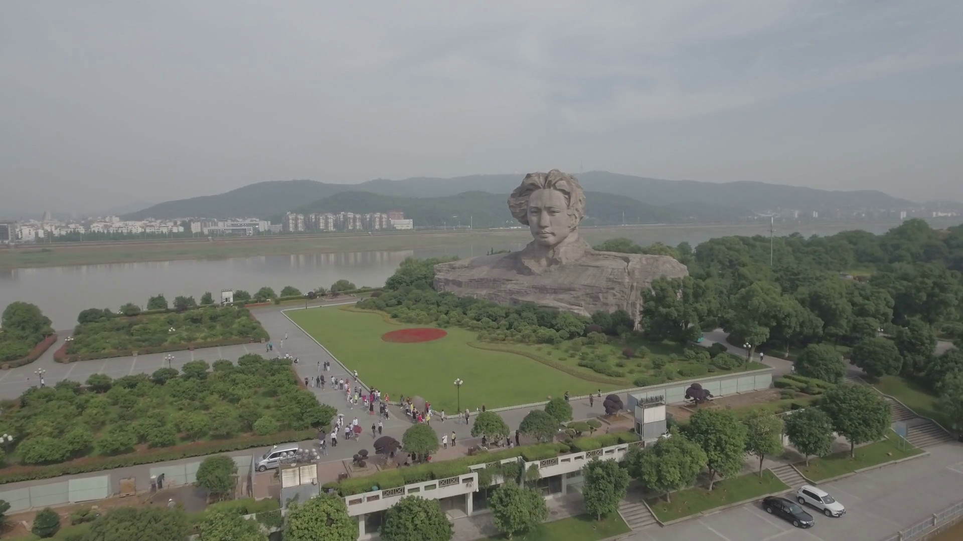 Res: 1920x1080, Flying towards a statue of Mao Zedong, founder of the People's Republic of  China Stock Video Footage - Videoblocks