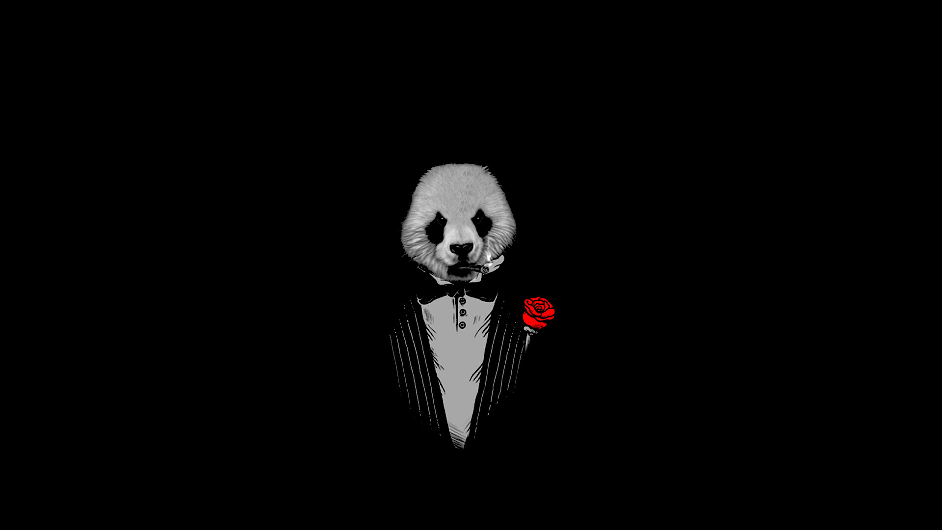 Res: 1920x1080, panda, The Godfather, Black Wallpapers HD / Desktop and Mobile Backgrounds
