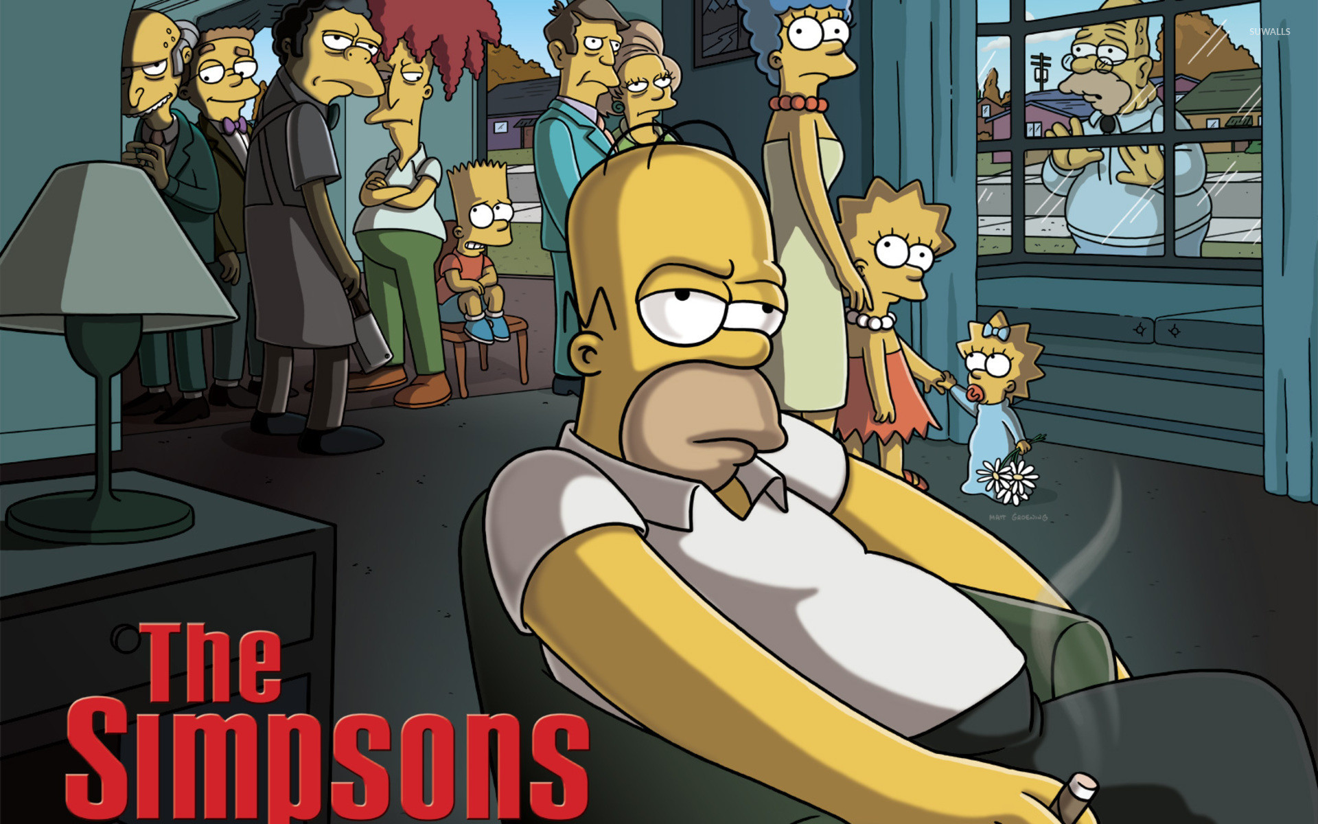 Res: 1920x1200, The Simpsons - The Godfather wallpaper