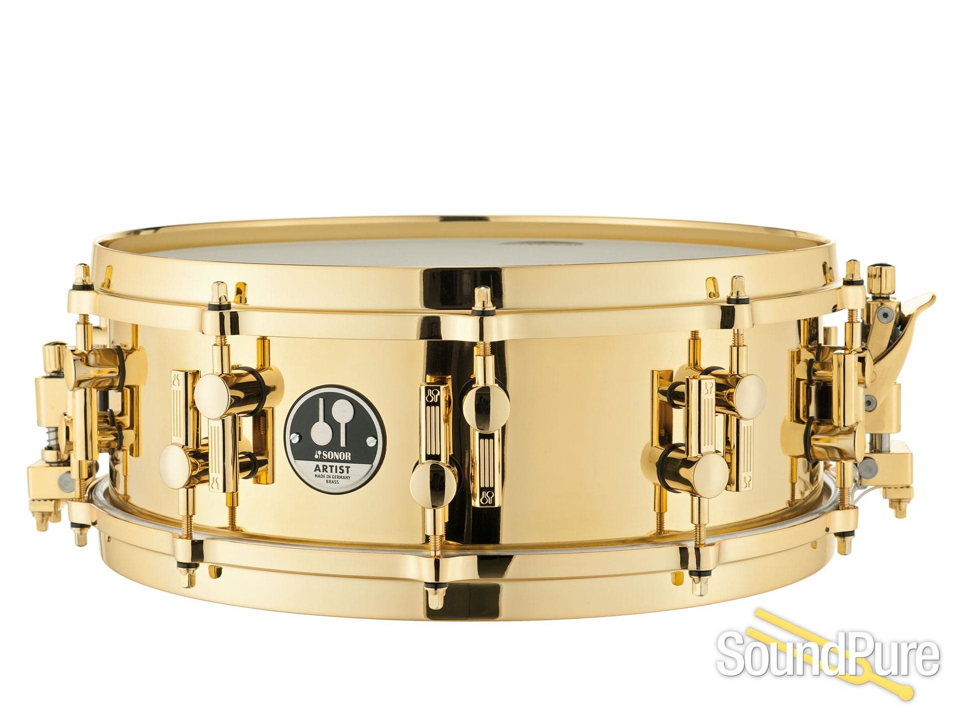 Res: 1920x1440, Sonor 14X5 Artist Series Brass Snare Drum-Die Cast Hoops, from Sonor