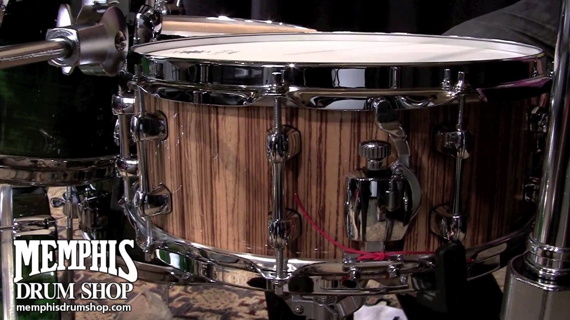 Res: 1920x1080, Sakae 14 x 5.5 Zebrawood/Mahogany Snare Drum - Played by Eric Harland