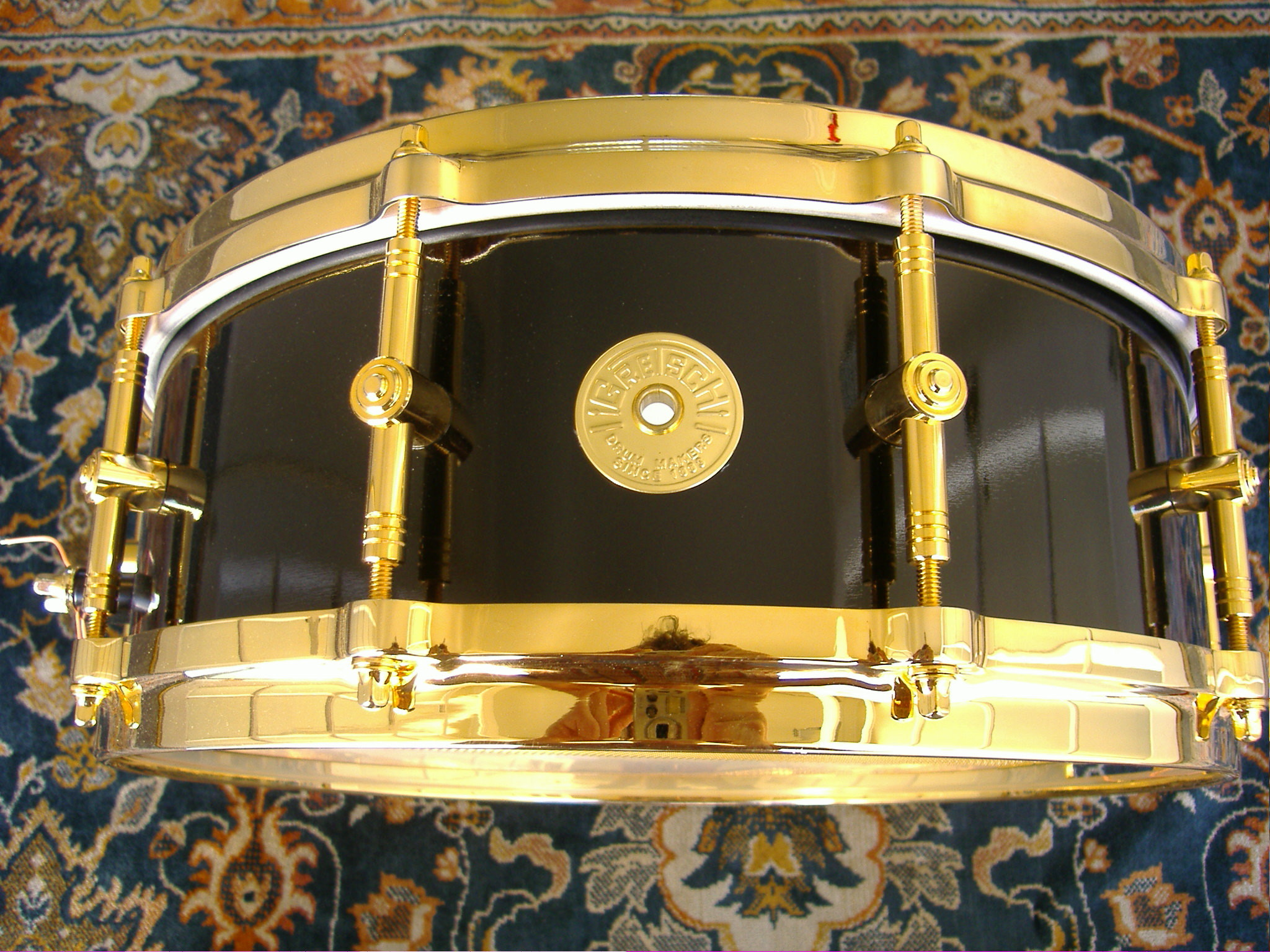 Res: 2048x1536, Gretsch 120th Anniversary Snare Drum with Gold Hardware and Paperwork