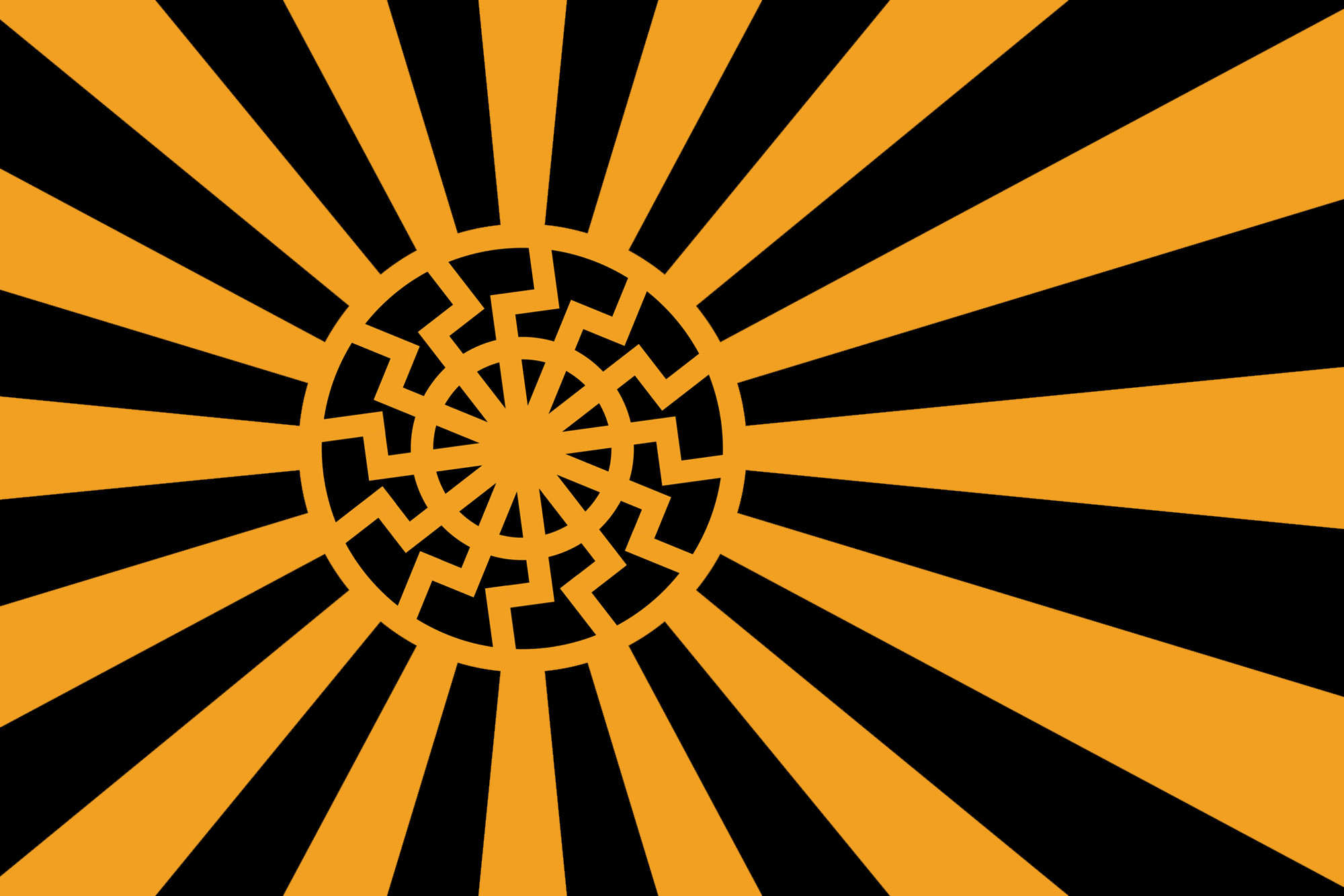 "Res: 2000x1333, Fascist flag with ""Black Sun"" design : vexillology"
