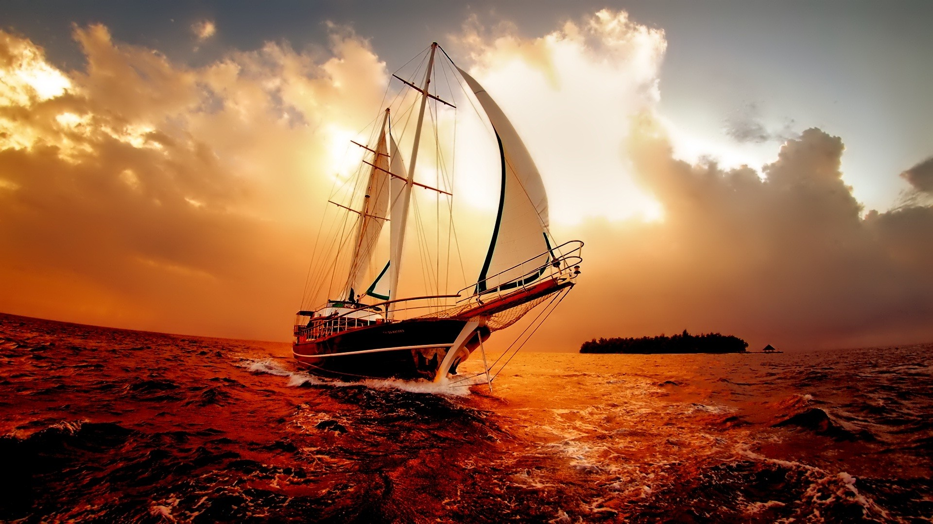 Res: 1920x1080, Amazing-Boat-in-Sea-Marvelous-new hd wallpapers ...