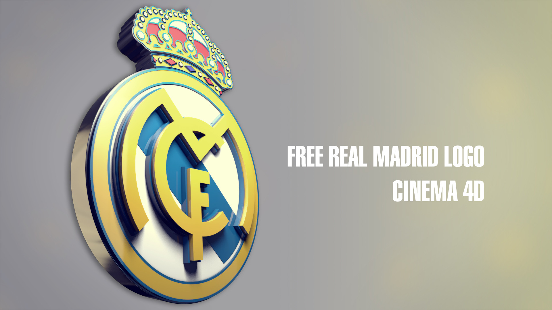 Res: 1920x1080, Real Madrid Logo 3D