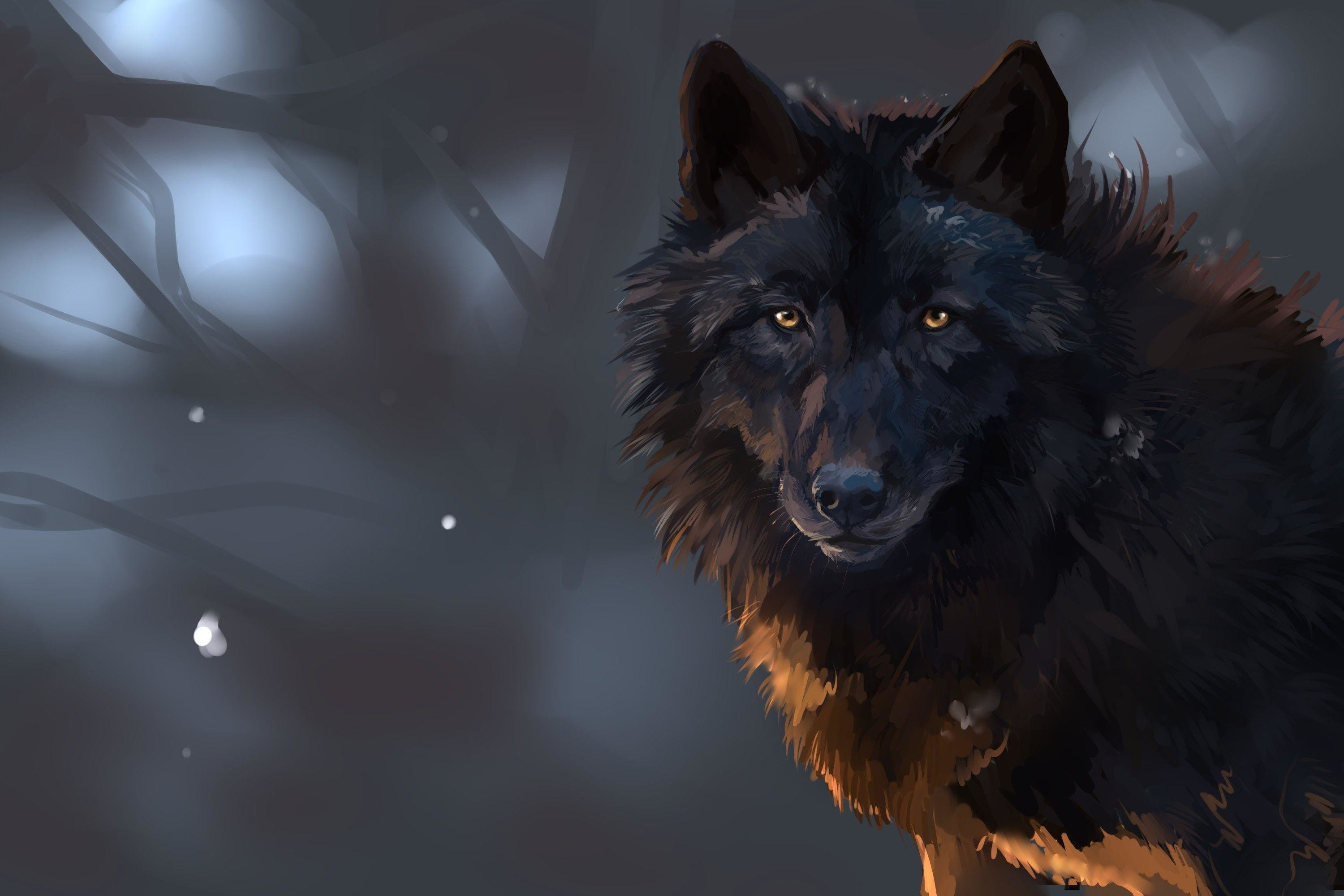 Res: 3000x2000, Wallpapers For > Dark Wolf Wallpapers