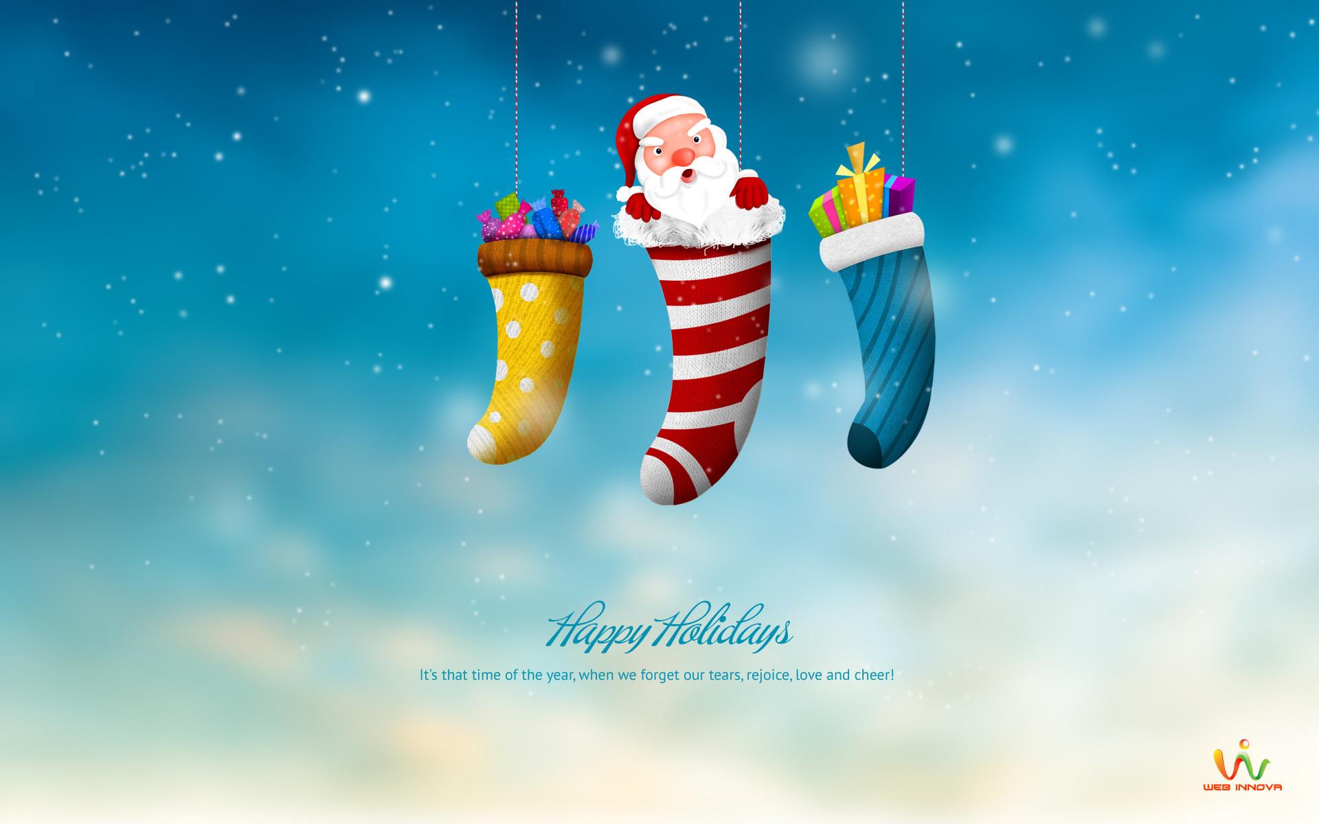 Res: 1920x1200, Santa Claus Happy Holidays