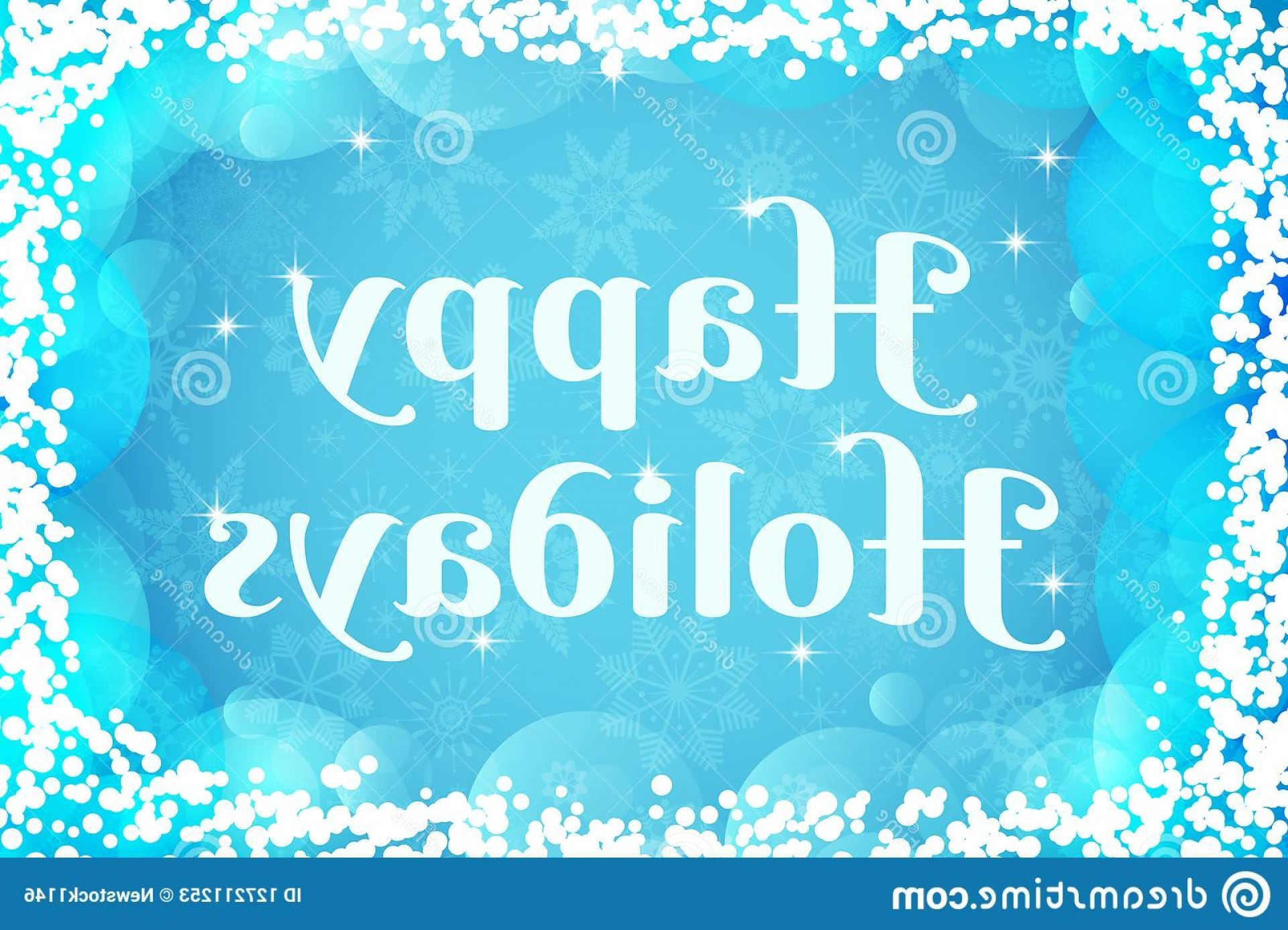 Res: 1920x1387, Happy Holidays Greeting Card Winter Vector Background Light Blue White  Colors Wallpaper Transparent Snowflakes Bubbles Image
