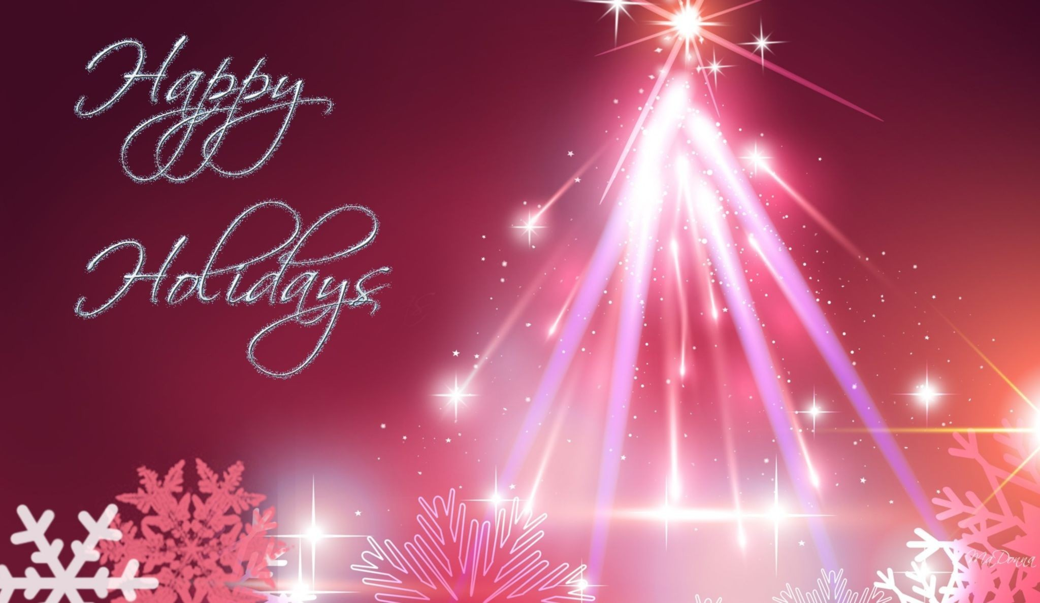 Res: 2048x1188, Pink Christmas Tree Happy Holiday Wallpaper