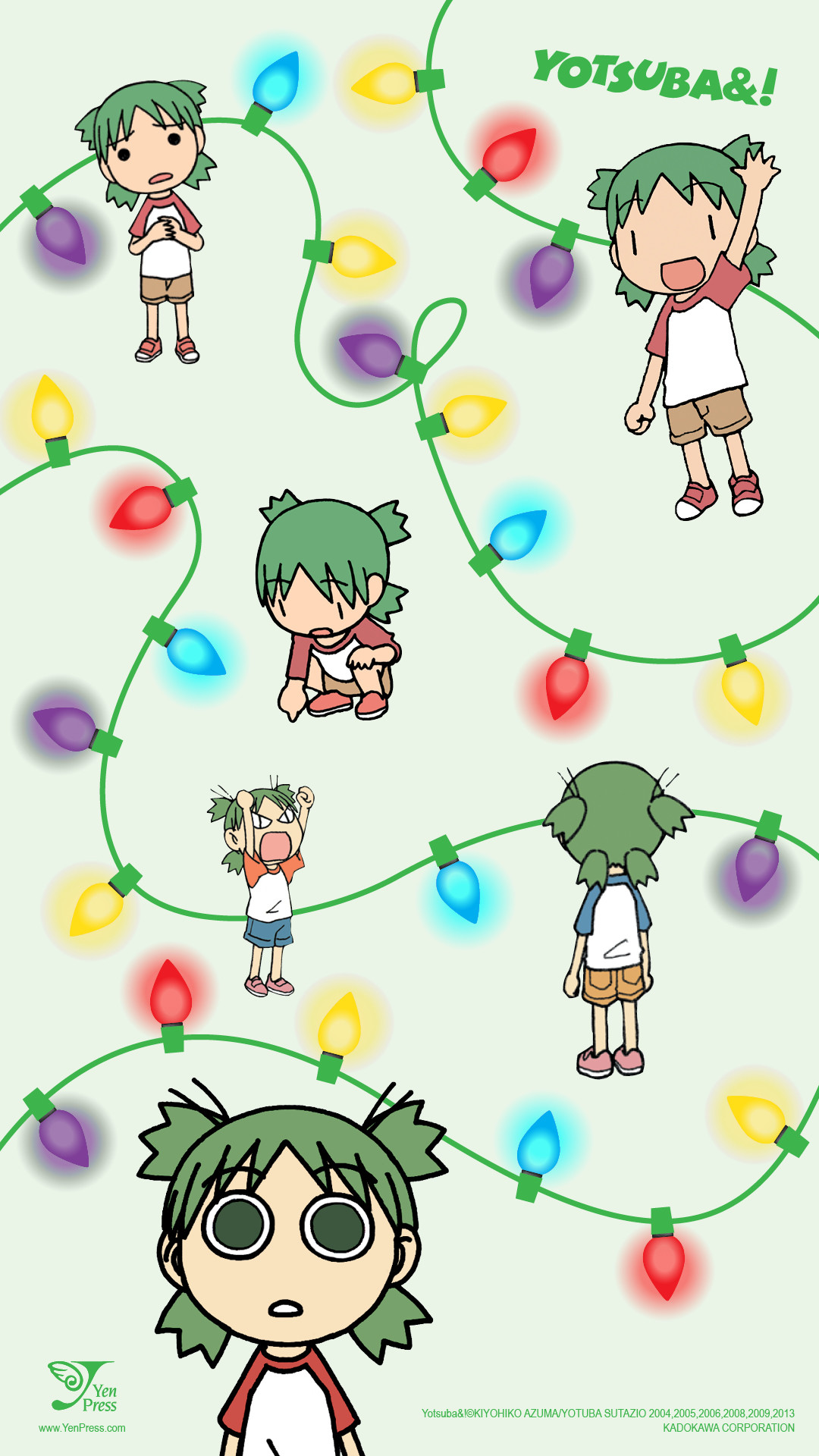 Res: 1080x1920, ... we brought in our favorite green-haired five-year-old Yotsuba for three  exclusive mobile, and two desktop wallpapers! Choose one or two designs . .  .or ...