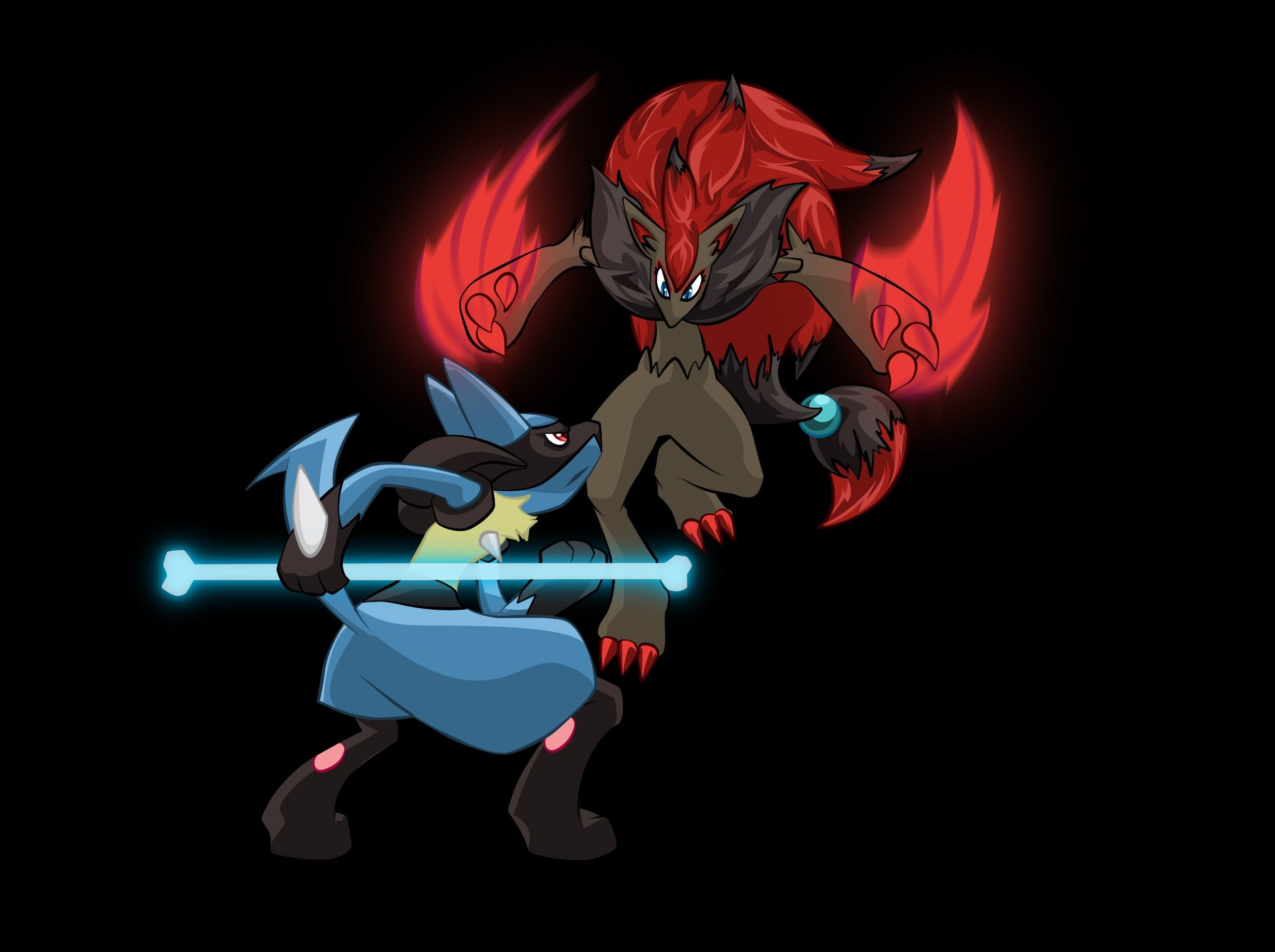 Res: 2592x1936, 1920x1200 HD Pokemon Lucario Image.