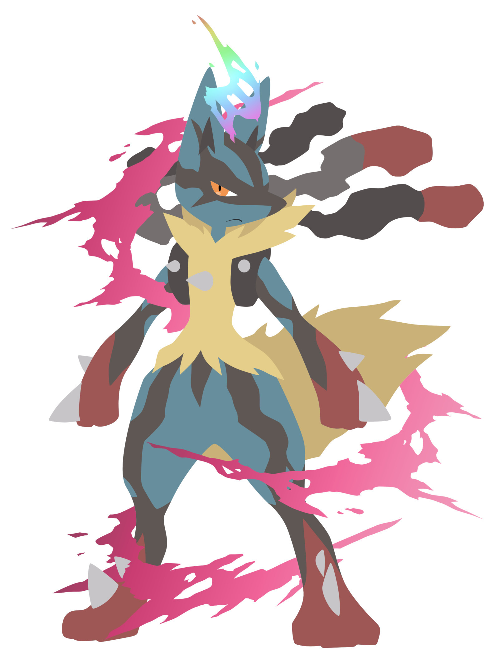 Res: 1600x2128,  Mega Lucario - Pokemon Vector by firedragonmatty