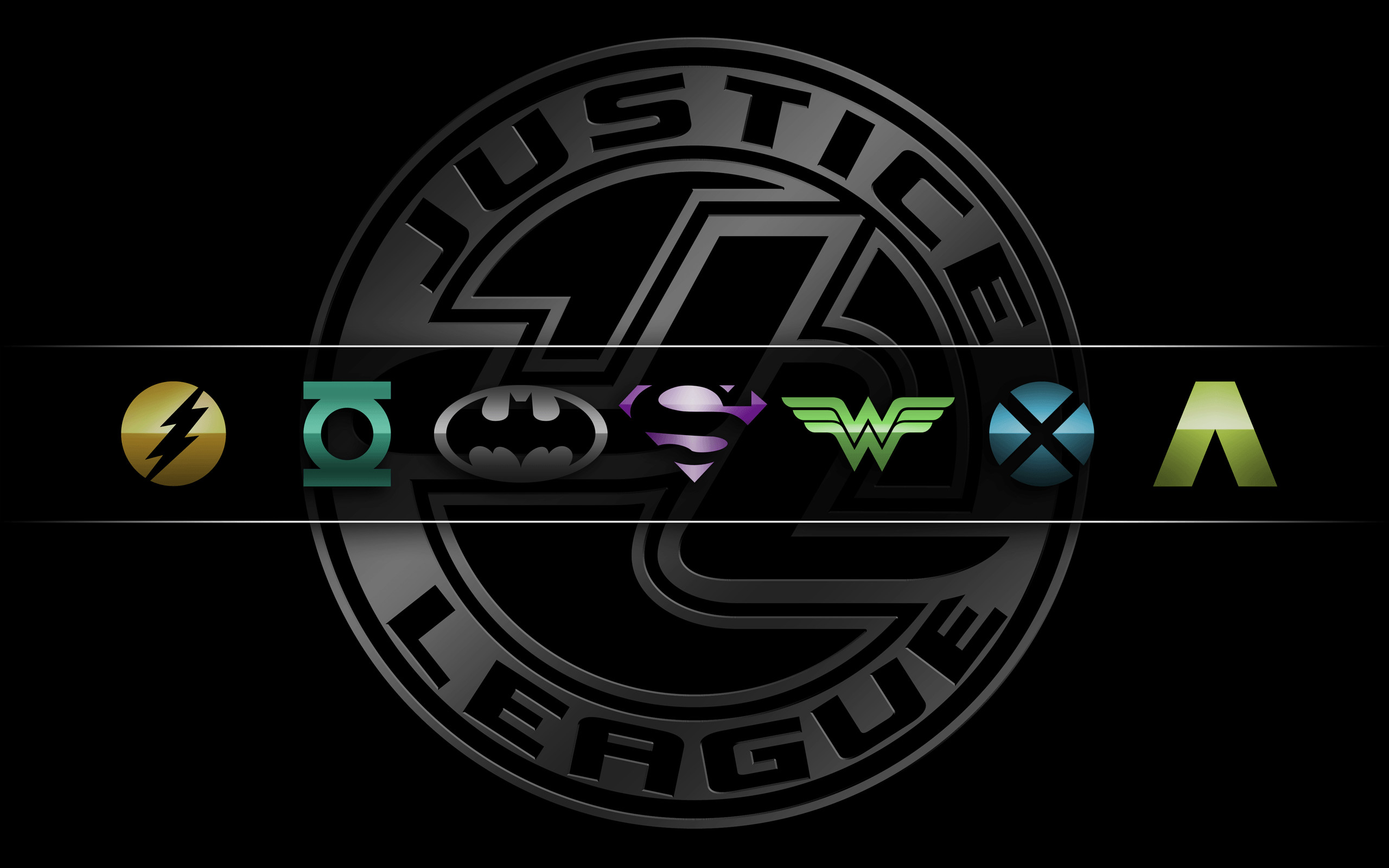 Res: 2560x1600, Superhero Logos Wallpaper