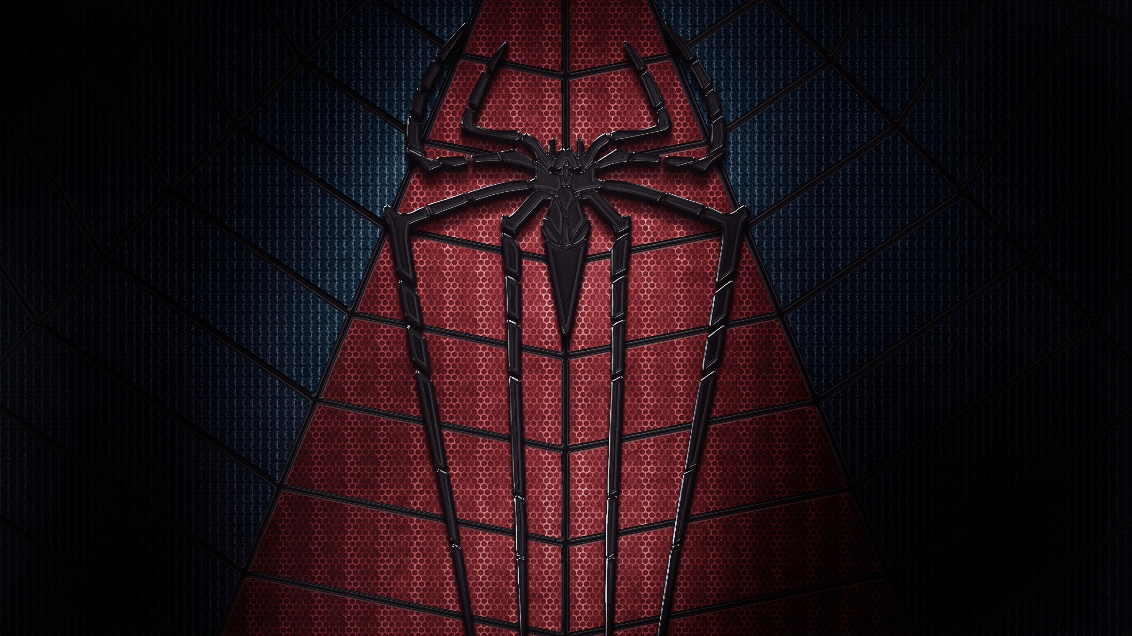 Res: 3840x2160, #spider, #logo, #Marvel Comics, #dark, #superhero, #comics, #Spider-Man,  wallpaper