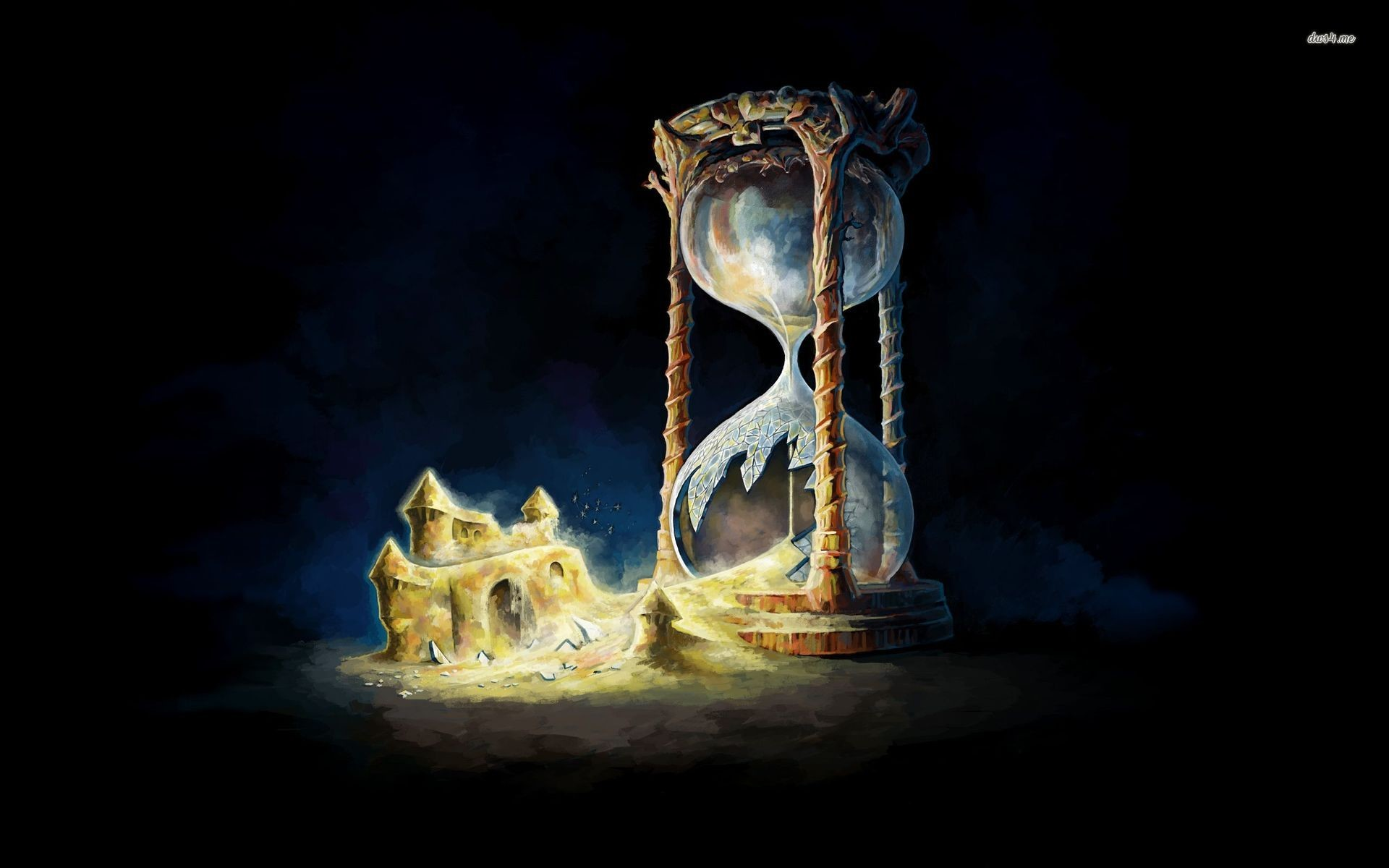 Res: 1920x1200, ... Broken hourglass wallpaper  ...