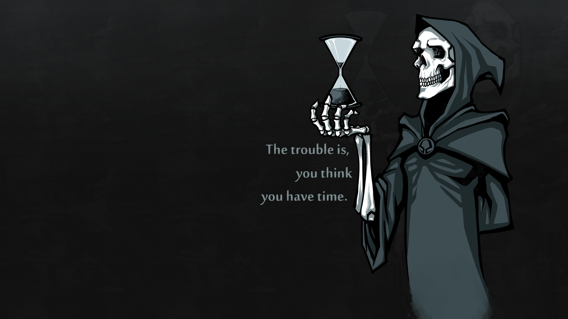 Res: 1920x1080, Death looking at the hourglass HD Wallpaper