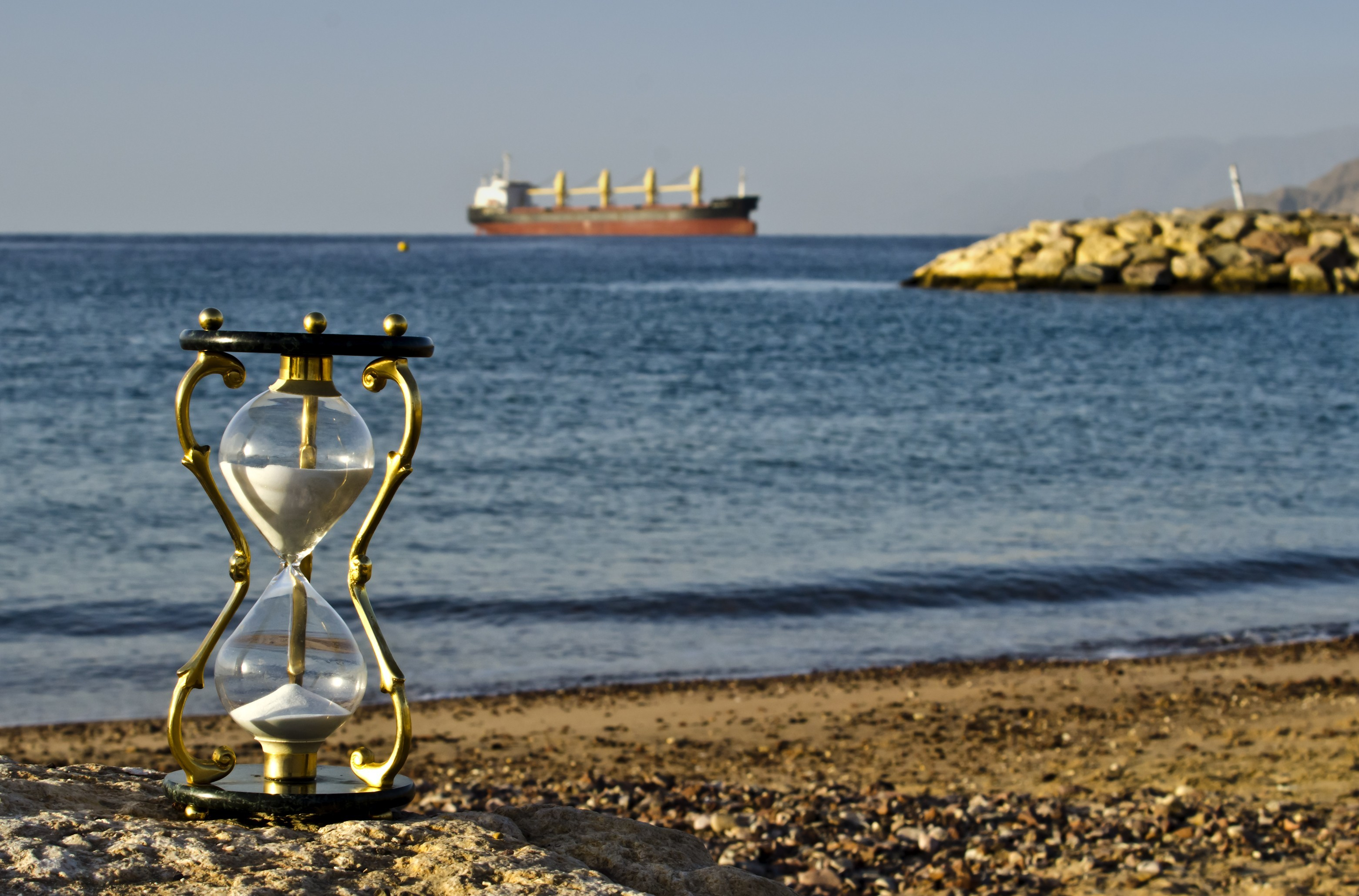 Res: 3123x2059, Maritime Hourglass Wallpaper